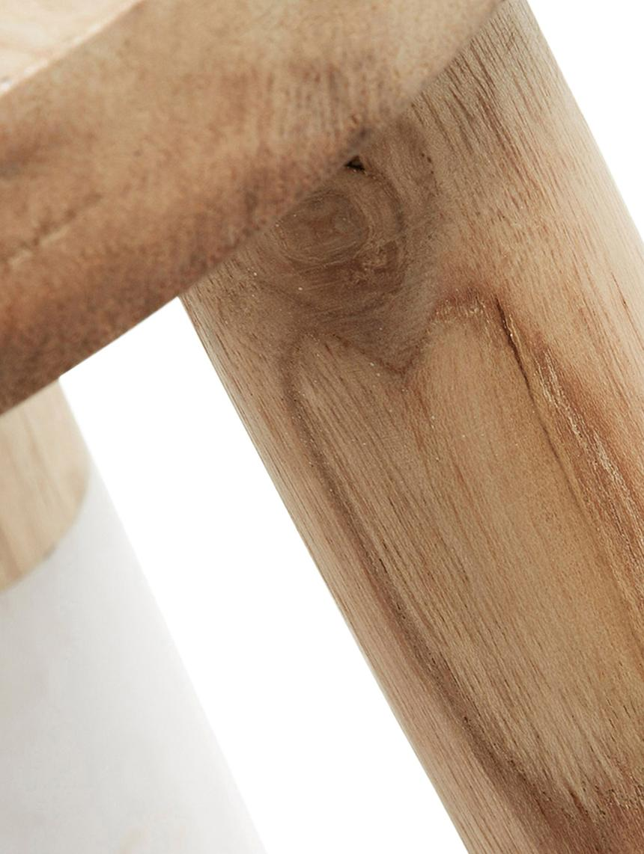 Tabouret Scandi en boisBrocsy, Bois de mungur, blanc