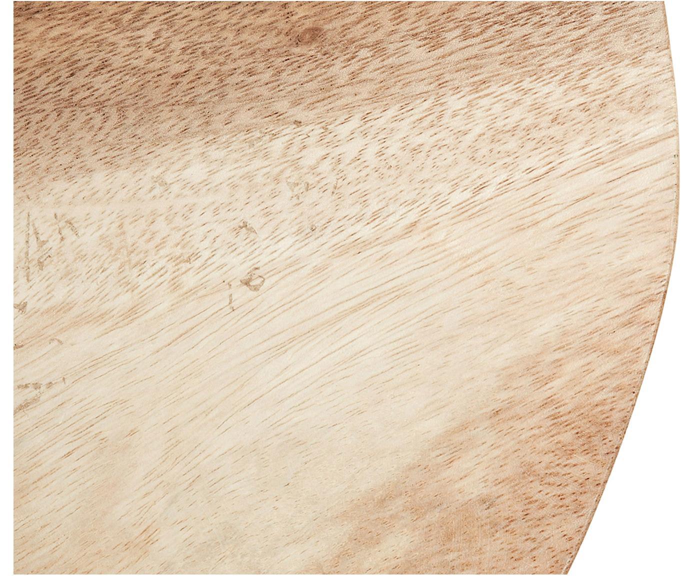 Skandi Hocker Brocsy aus Holz, Mungurholz, lackiert, Mungurholz, Weiß, 30 x 44 cm