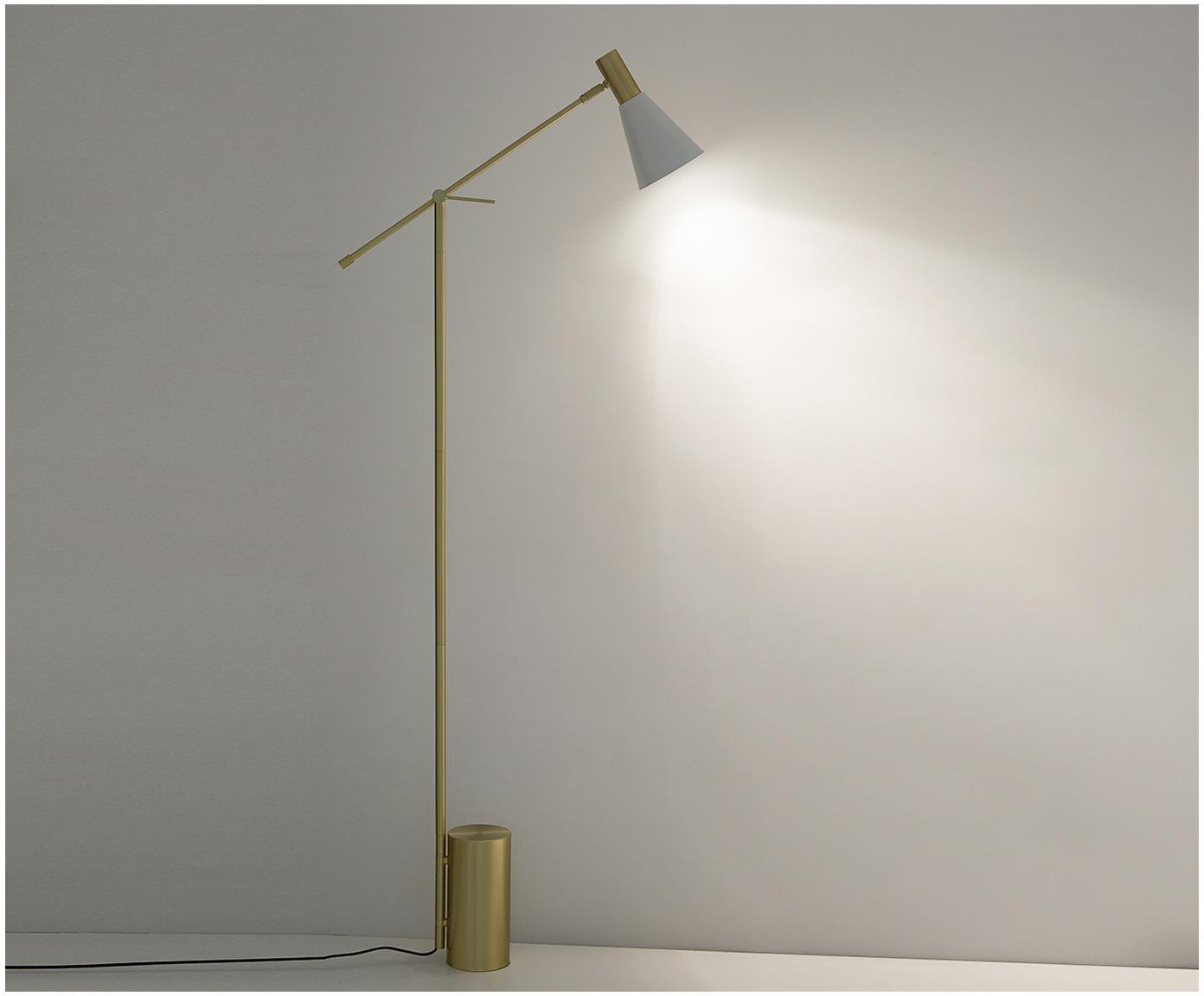 Lampa podłogowa Sia, Biały, odcienie mosiądzu, Ø 14 x W 162 cm
