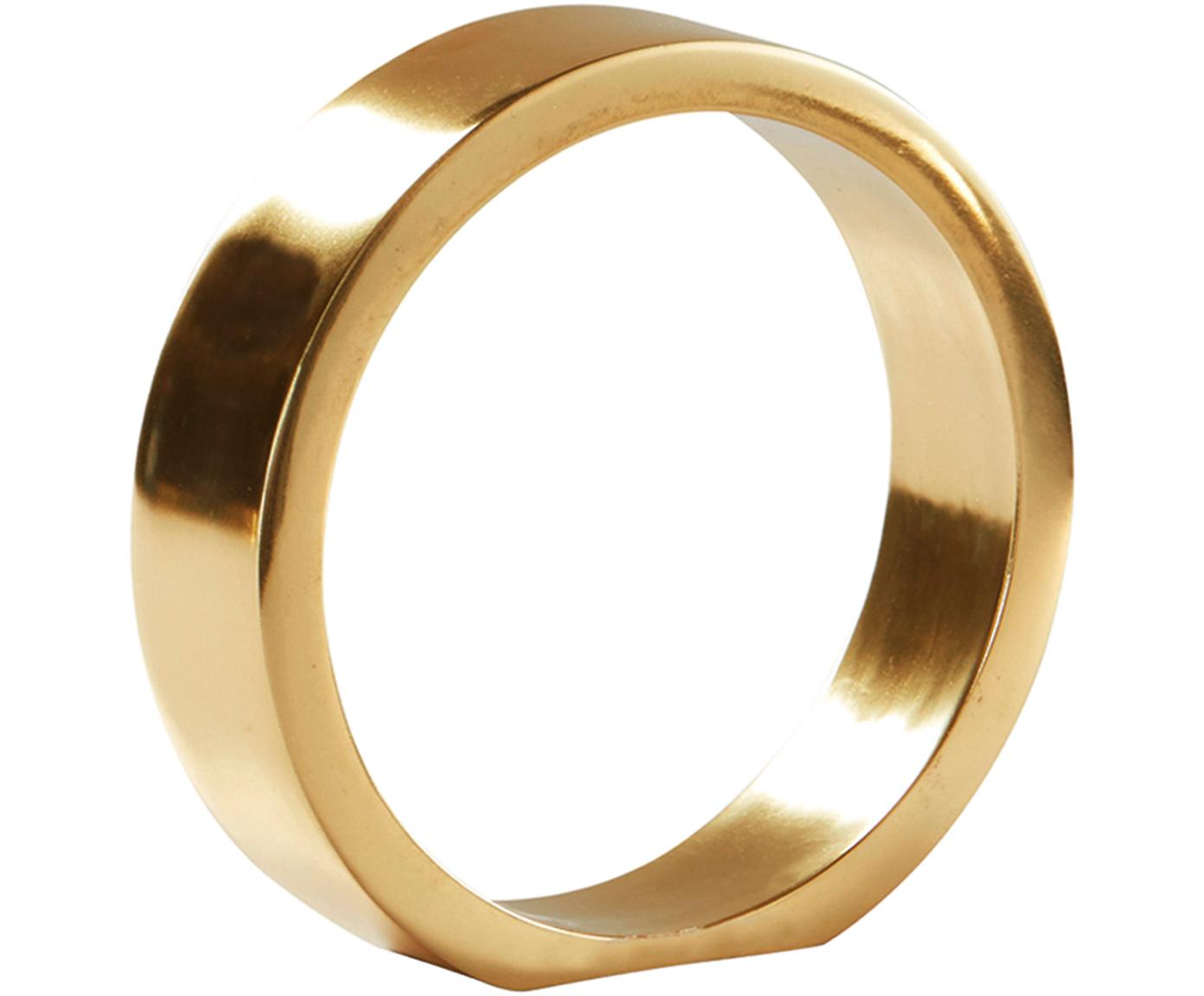 Deko-Objekt The Ring, Metall, beschichtet, Goldfarben, Ø 14 x H 14 cm