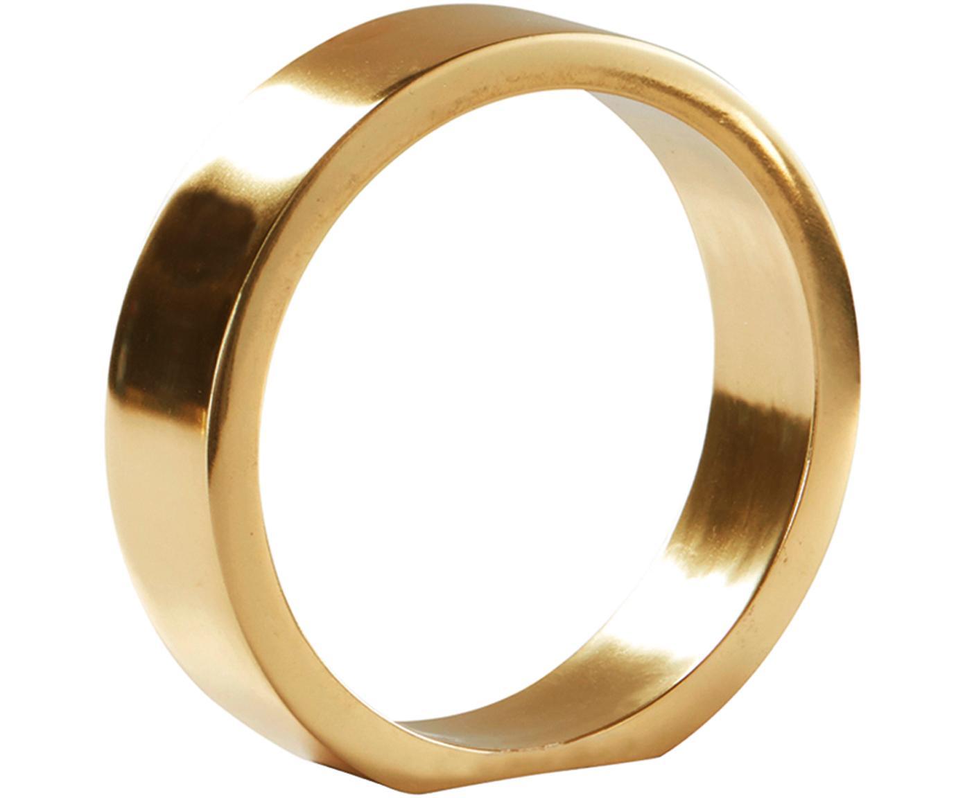 Dekoracja The Ring, Metal powlekany, Odcienie złotego, Ø 14 x W 14 cm