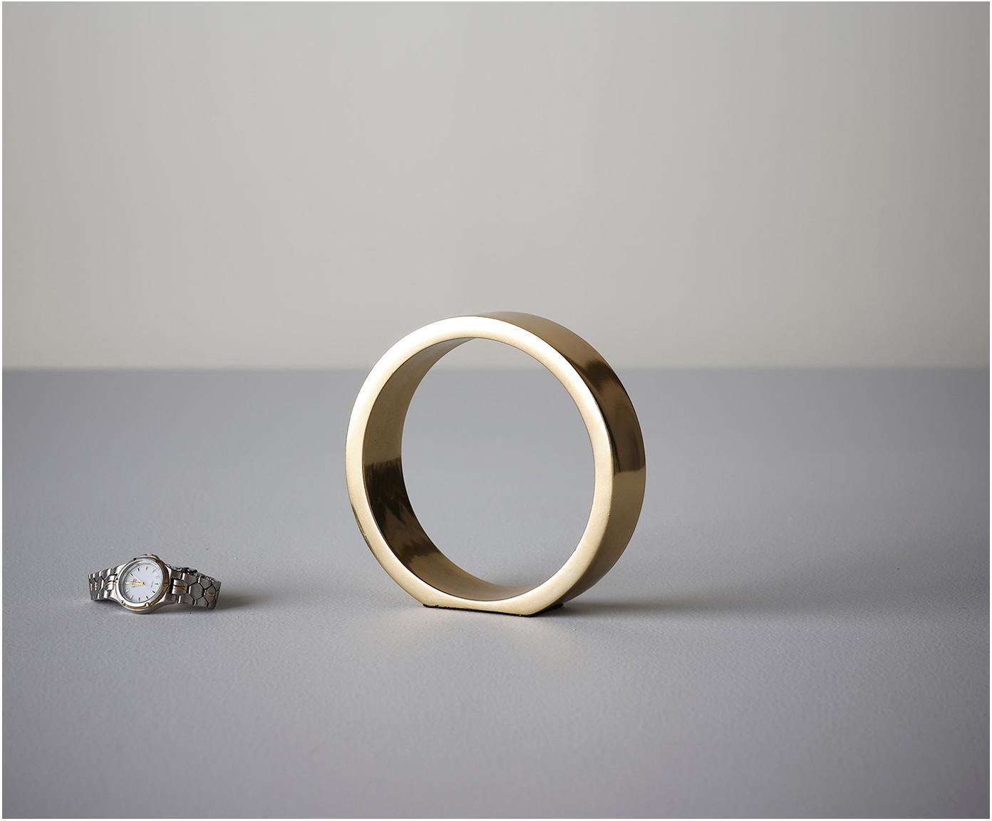 Decoratief object The Ring, Gecoat metaal, Goudkleurig, Ø 14 x H 14 cm