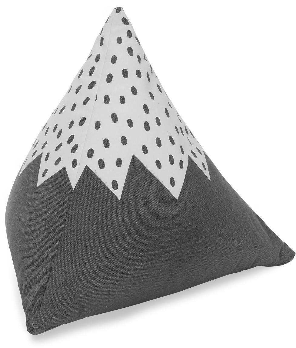 Poduszka podłogowa z bawełny organicznej Mountain, Tapicerka: bawełna organiczna, certy, Szary, złamana biel, S 50 x D 50 cm