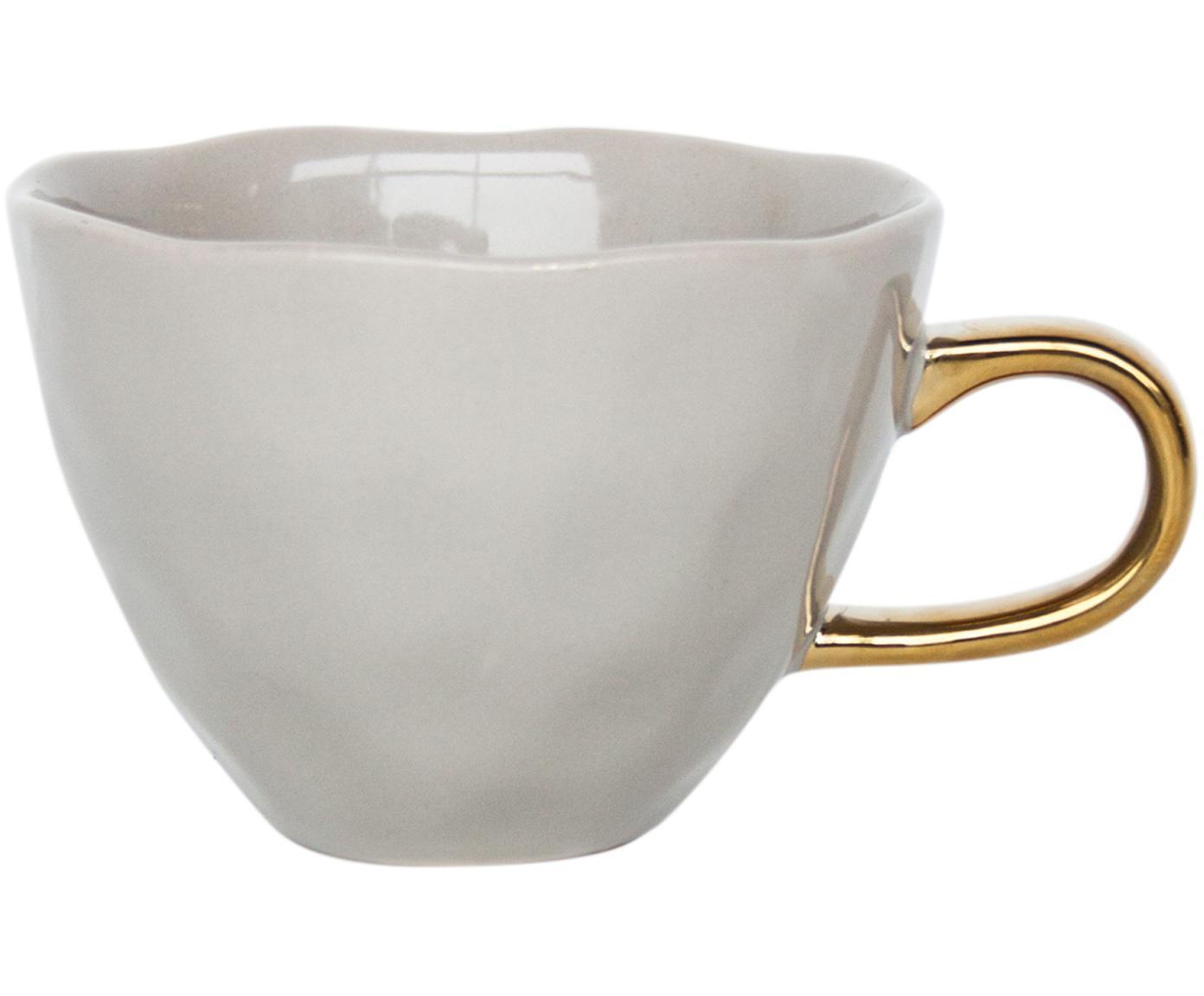 Taza de café Good Morning, Gres, Gris, dorado, Ø 11 x Al 8 cm