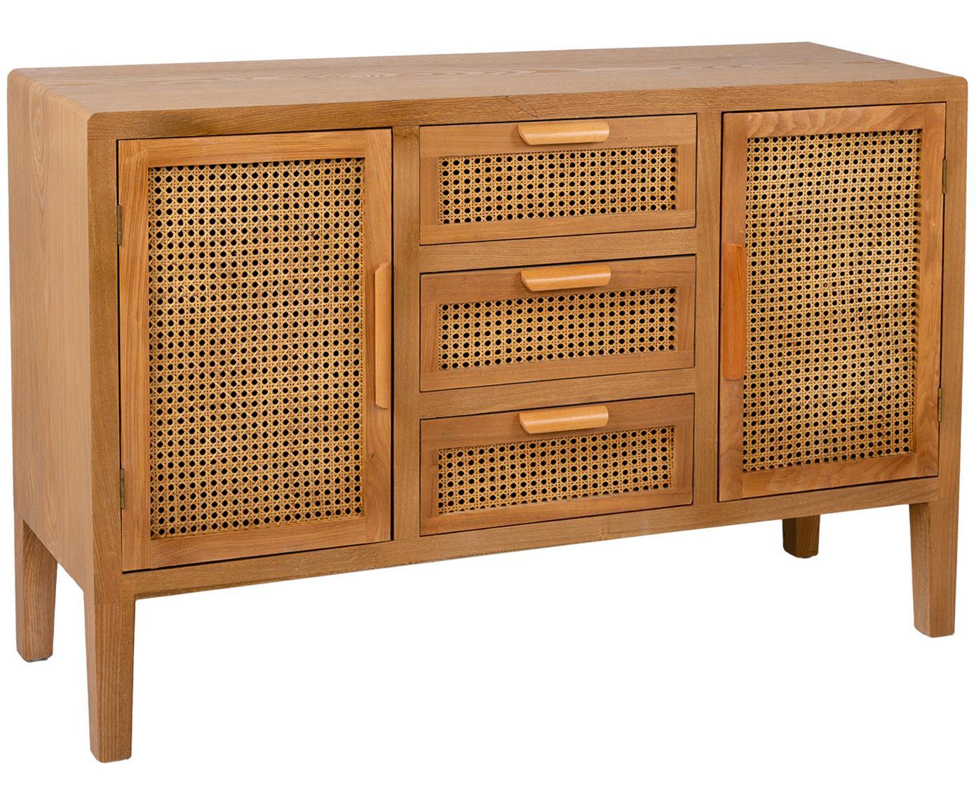 Aparador Manuela, Estructura: madera de abeto, tablero , Marrón, An 122 x Al 82 cm