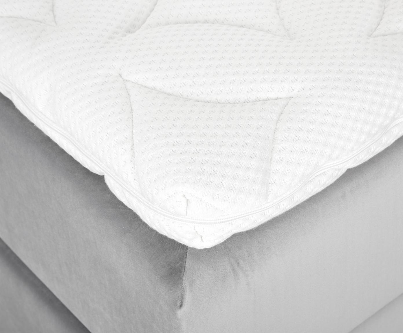 Łóżko kontynentalne z aksamitu premium Phoebe, Nogi: lite drewno bukowe, lakie, Jasny szary, 200 x 200 cm