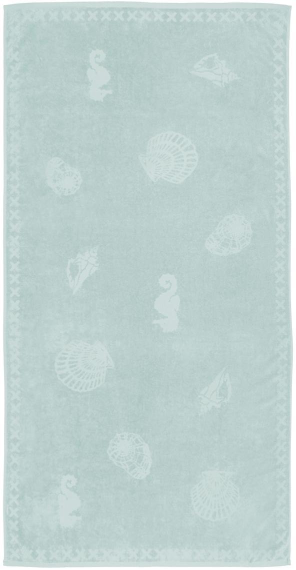 Ręcznik plażowy Shells, Miętowy, S 100 x D 200 cm