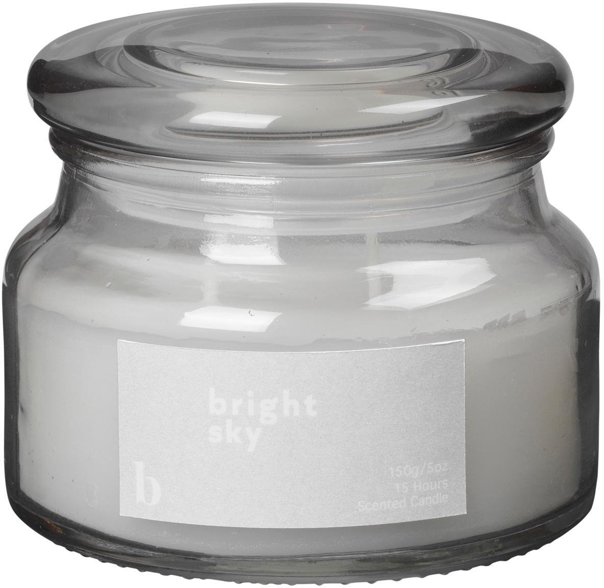 Duftkerze Bright Sky (Blumig), Behälter: Glas, Grau, Ø 10 x H 8 cm