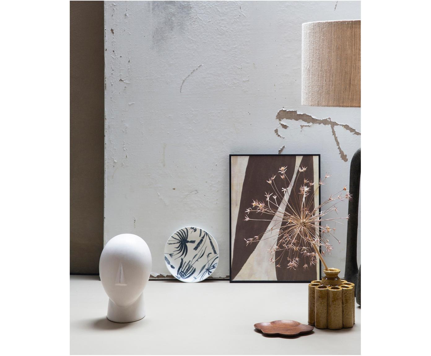 Gerahmter Digitaldruck Rero, Bild: Recyceltes Papier, Rahmen: Mitteldichte Holzfaserpla, Braun, Creme, 25 x 35 cm