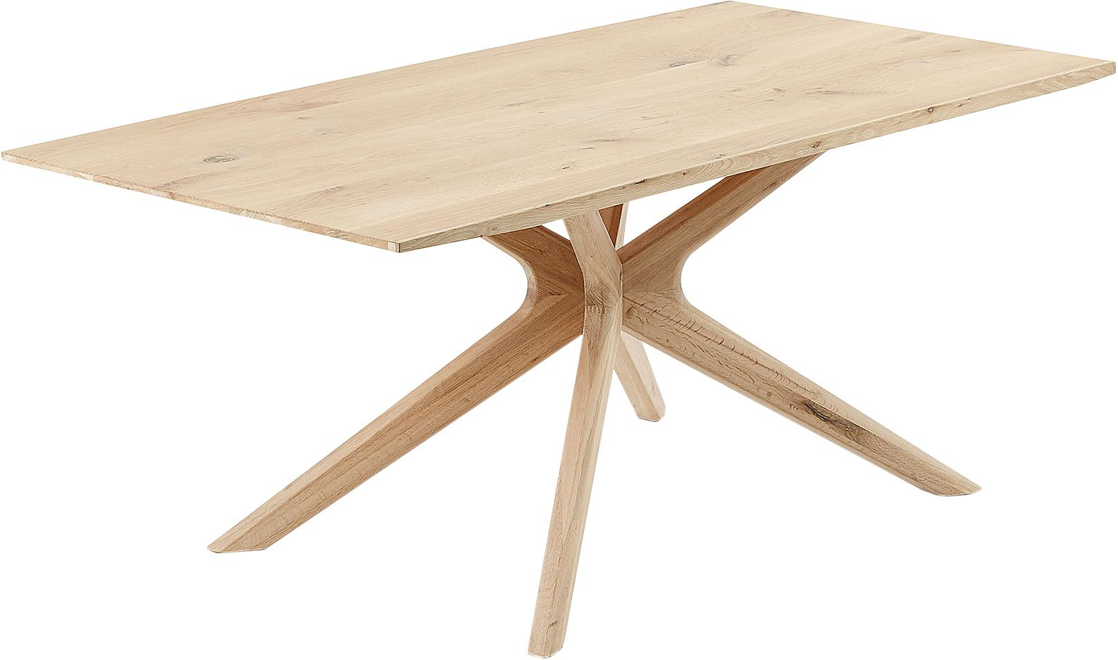 Esstisch Armande aus Eichenholz, Eichenholz, gewachst, Eichenholz, B 180 x T 90 cm