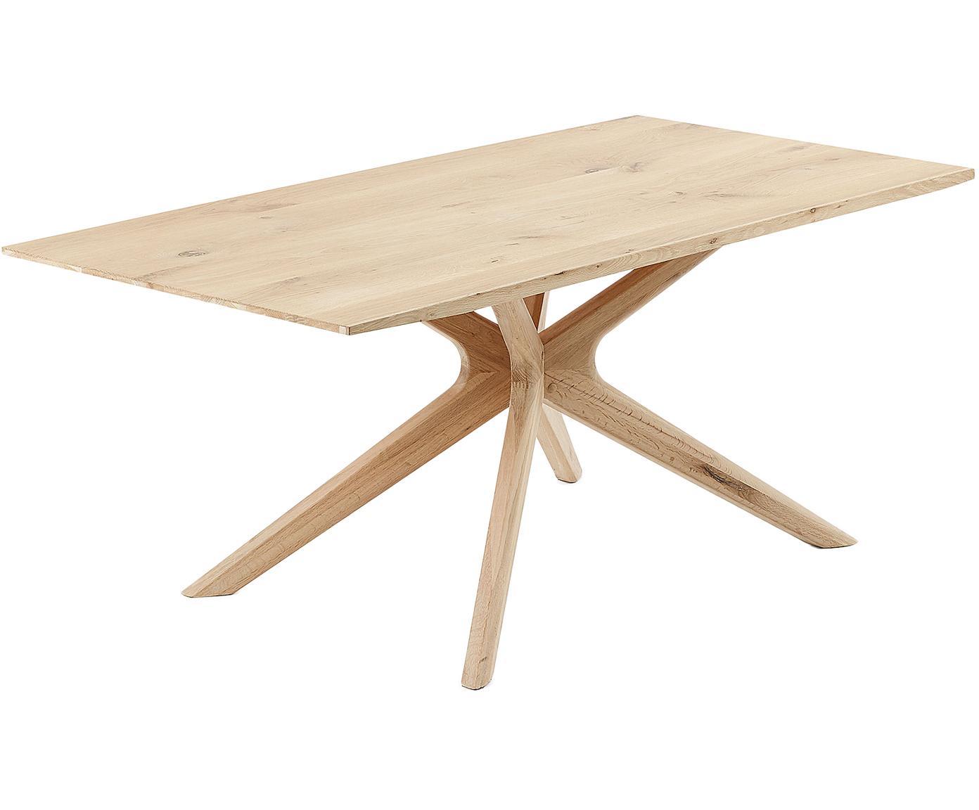Stół do jadalni z drewna dębowego Armande, Drewno dębowe, Drewno dębowe, S 180 x G 90 cm