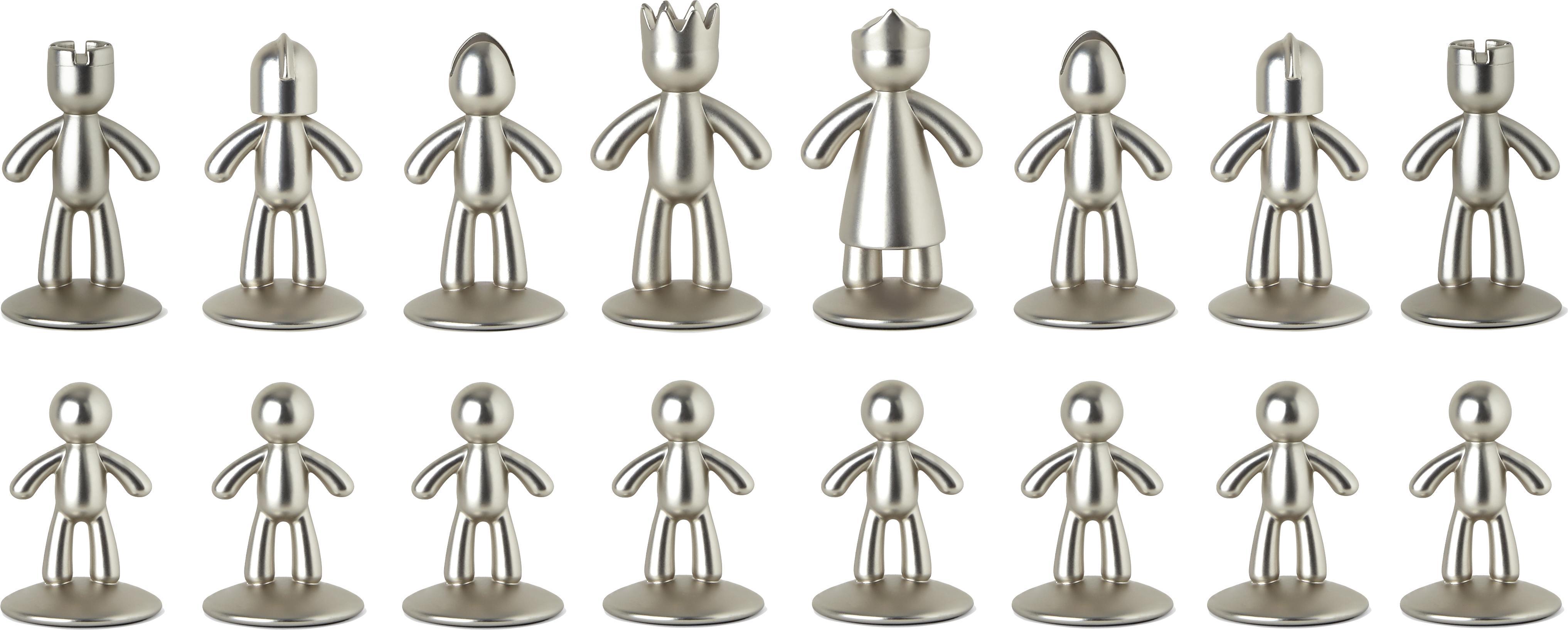 Schachspiel Buddy, 33-tlg., Box: Eschenholz, Box: Esche<br>Schachbrett: Titan<br>Figuren: Nickel, Titan, 33 x 4 cm