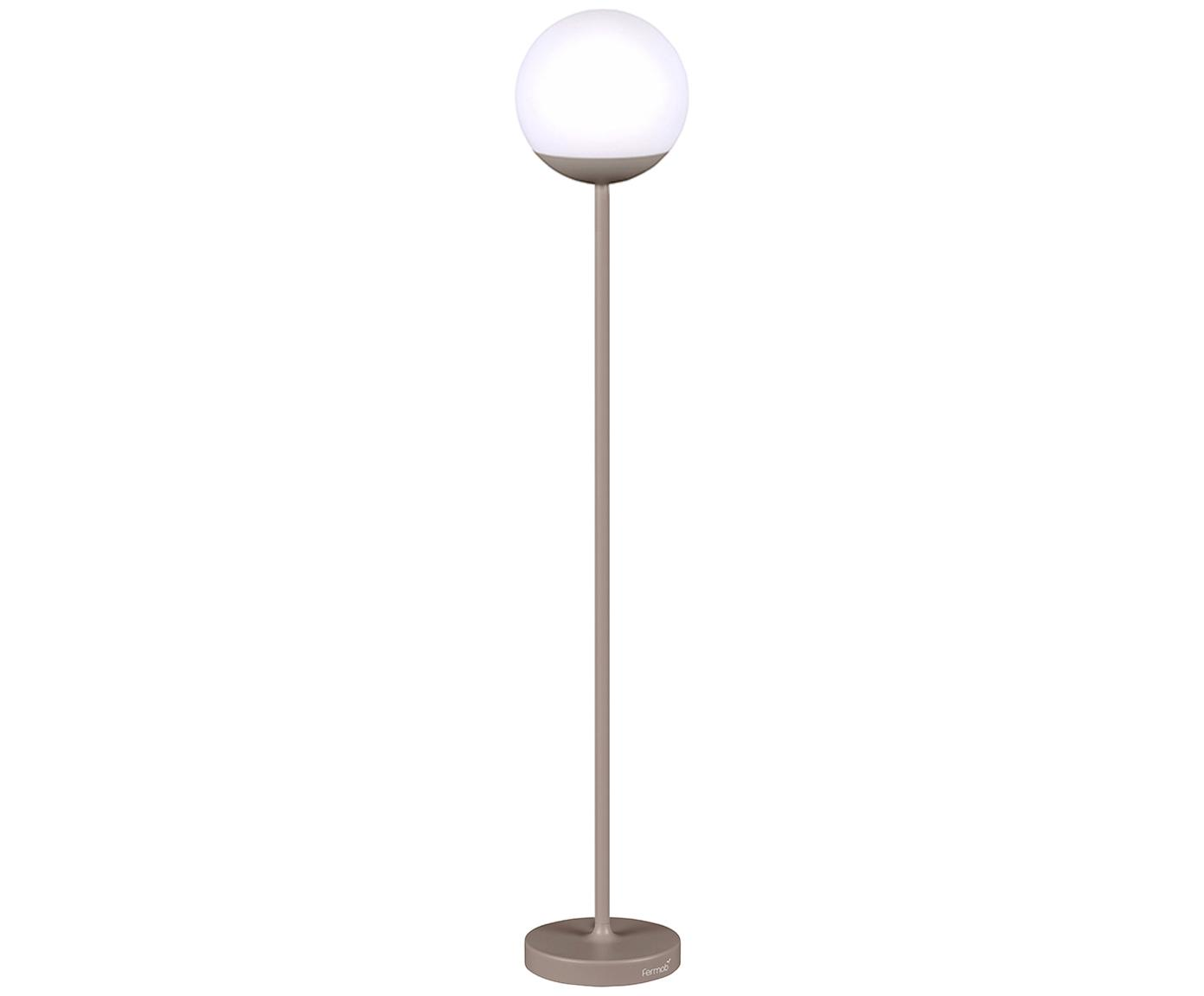 Lampada portatile da esterno a LED Mooon, Paralume: materiale sintetico, Marrone moscato, Ø 25 x Alt. 134 cm