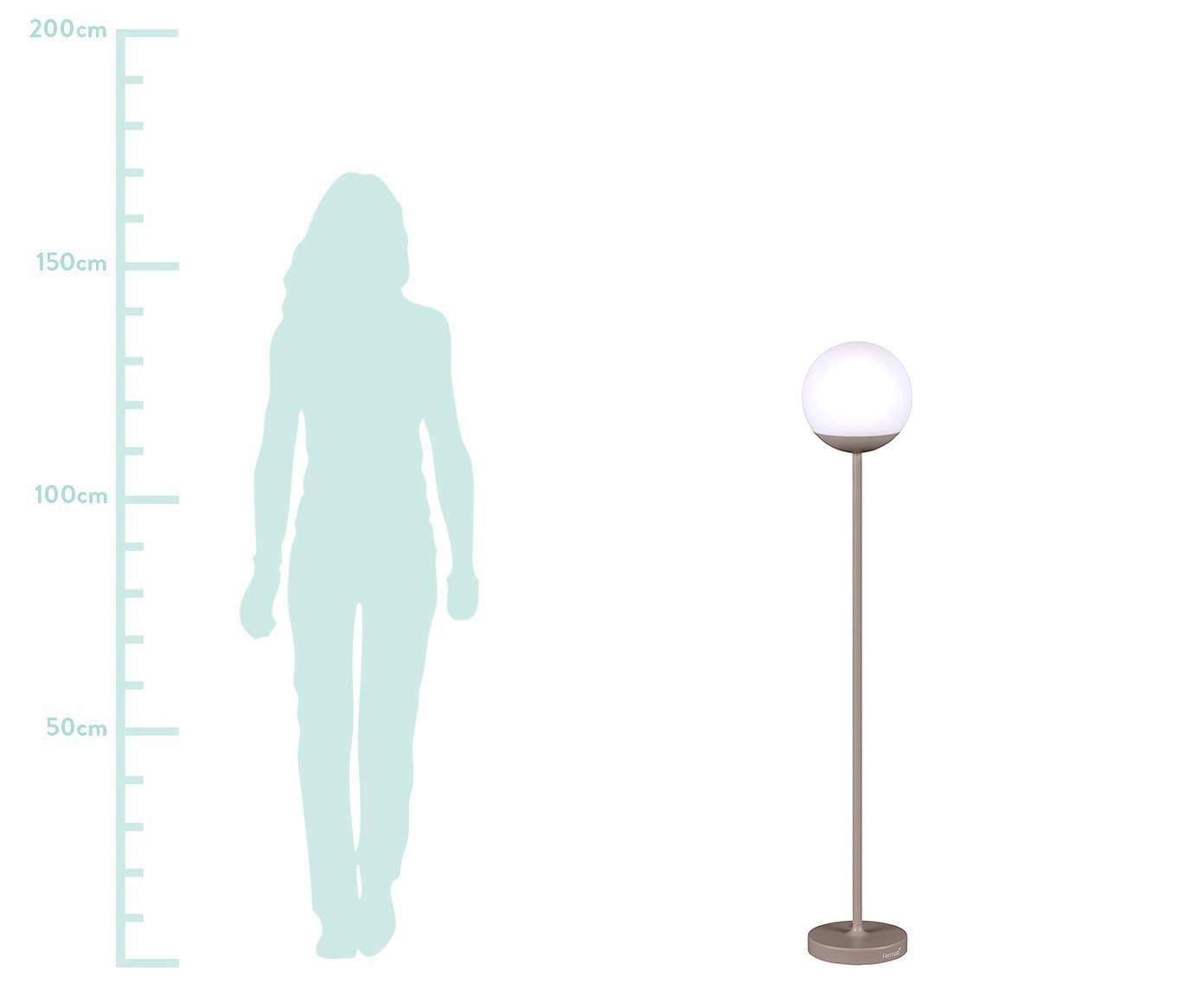 Zewnętrzna mobilna lampa LED Mooon, Gałka muszkatołowa, Ø 25 x W 134 cm