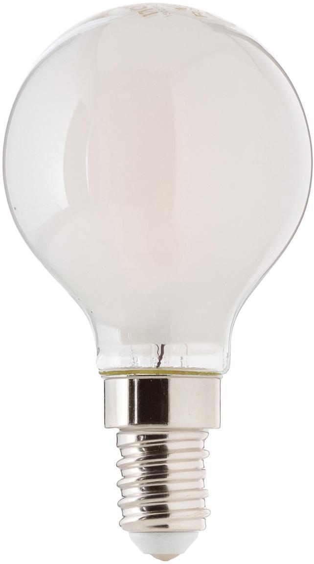 Leuchtmittel Sedim (E14/2.5W), Leuchtmittelschirm: Kunststoff, Leuchtmittelfassung: Aluminium, Weiß, Ø 5 x H 8 cm