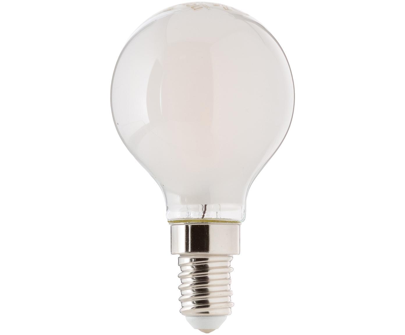Leuchtmittel Sedim (E14/2.5W), Leuchtmittelschirm: Kunststoff, Leuchtmittelfassung: Aluminium, Weiss, Ø 5 x H 8 cm