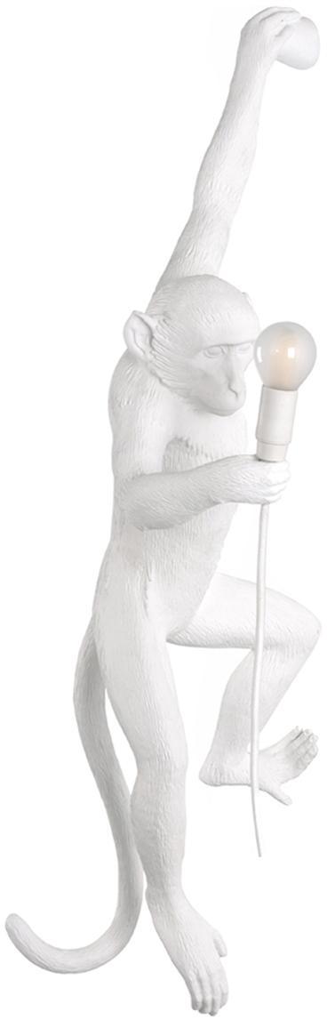 Applique da esterno a LED Monkey, Resina, Bianco, Larg. 37 x Alt. 77 cm