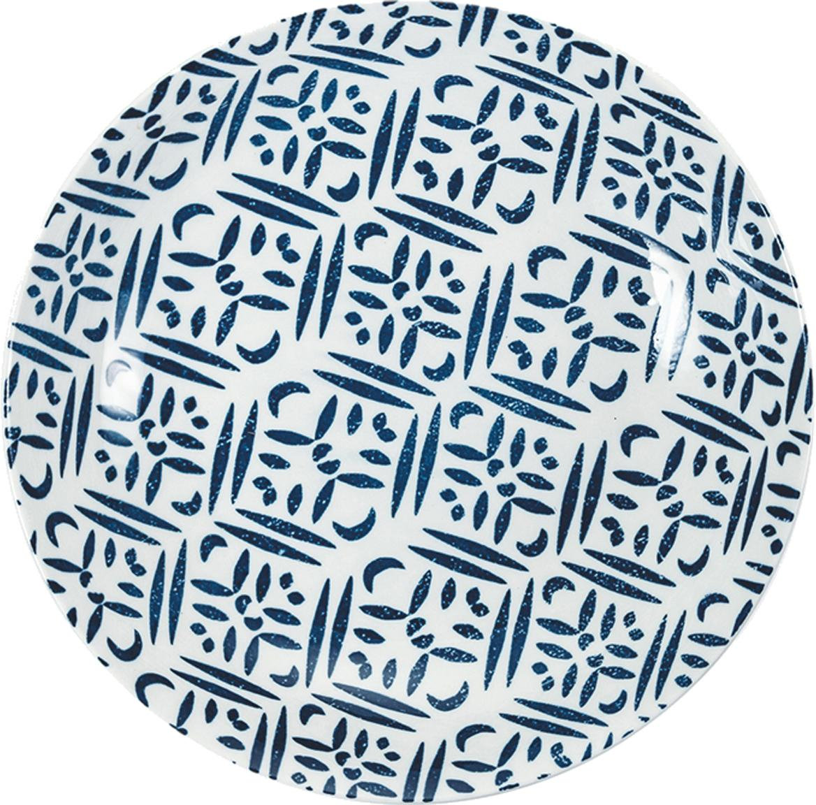 Komplet naczyń  Playa, 18 elem., Porcelana, Niebieski, biały, Komplet z różnymi rozmiarami