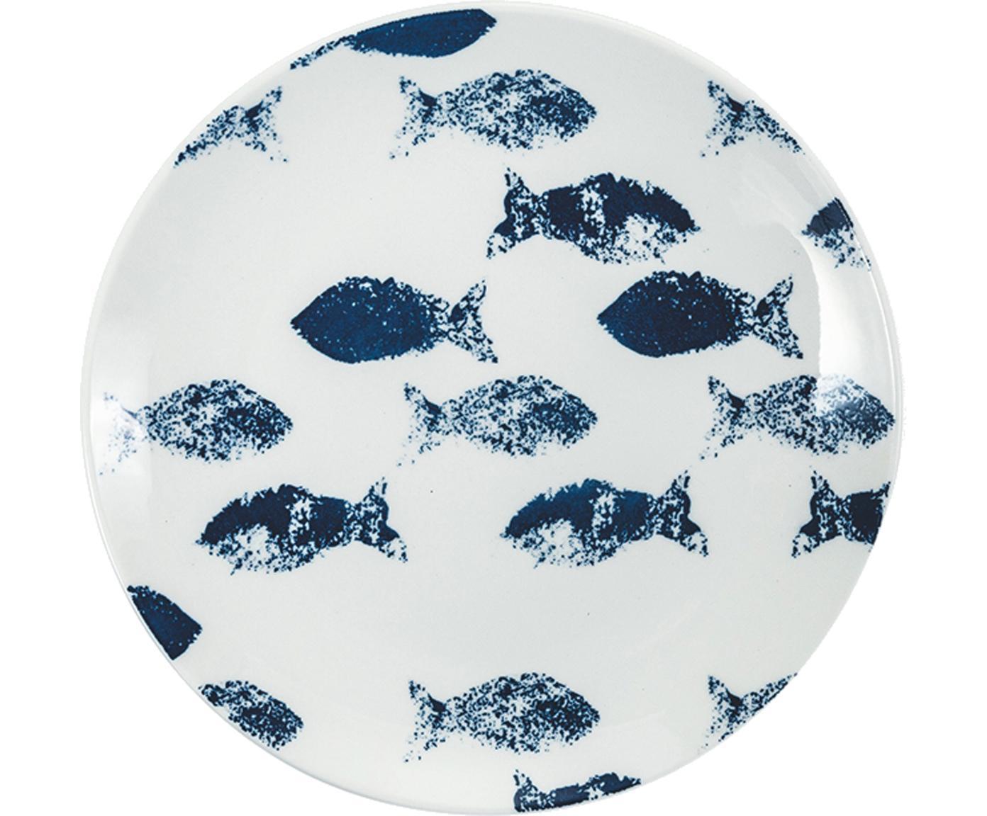 Komplet naczyń  Playa, 18 elem., Porcelana, Niebieski, Różne rozmiary