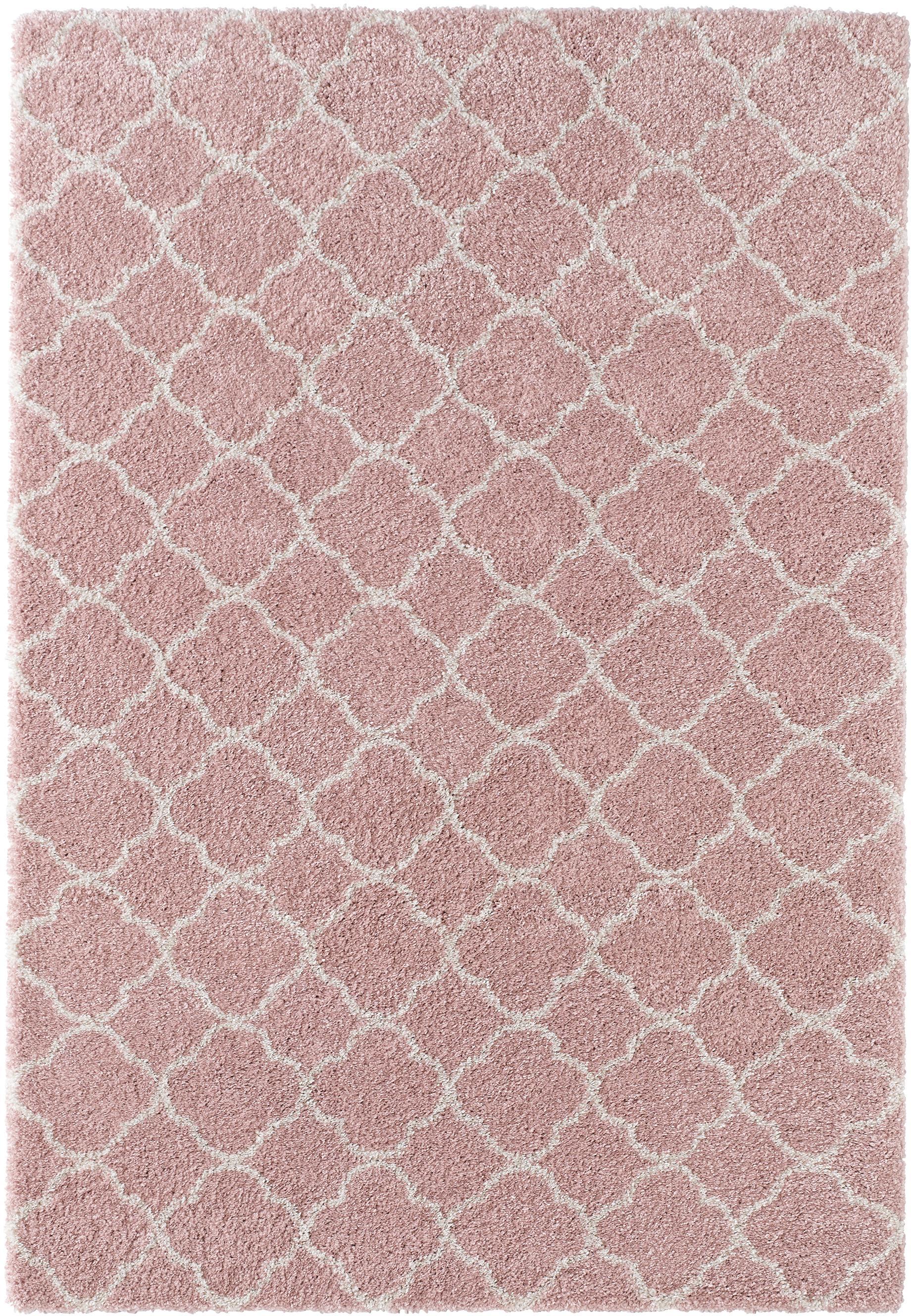 Tappeto a pelo corto rosa-crema Grace, Retro: juta, Rosa cipria, crema, Larg. 200 x Lung. 290 cm (taglia L)