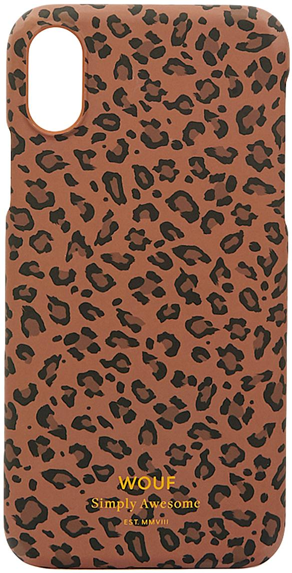 Cover  per iPhone X  Savanna, Silicone, Marrone, nero, Larg. 7 x Alt. 15 cm
