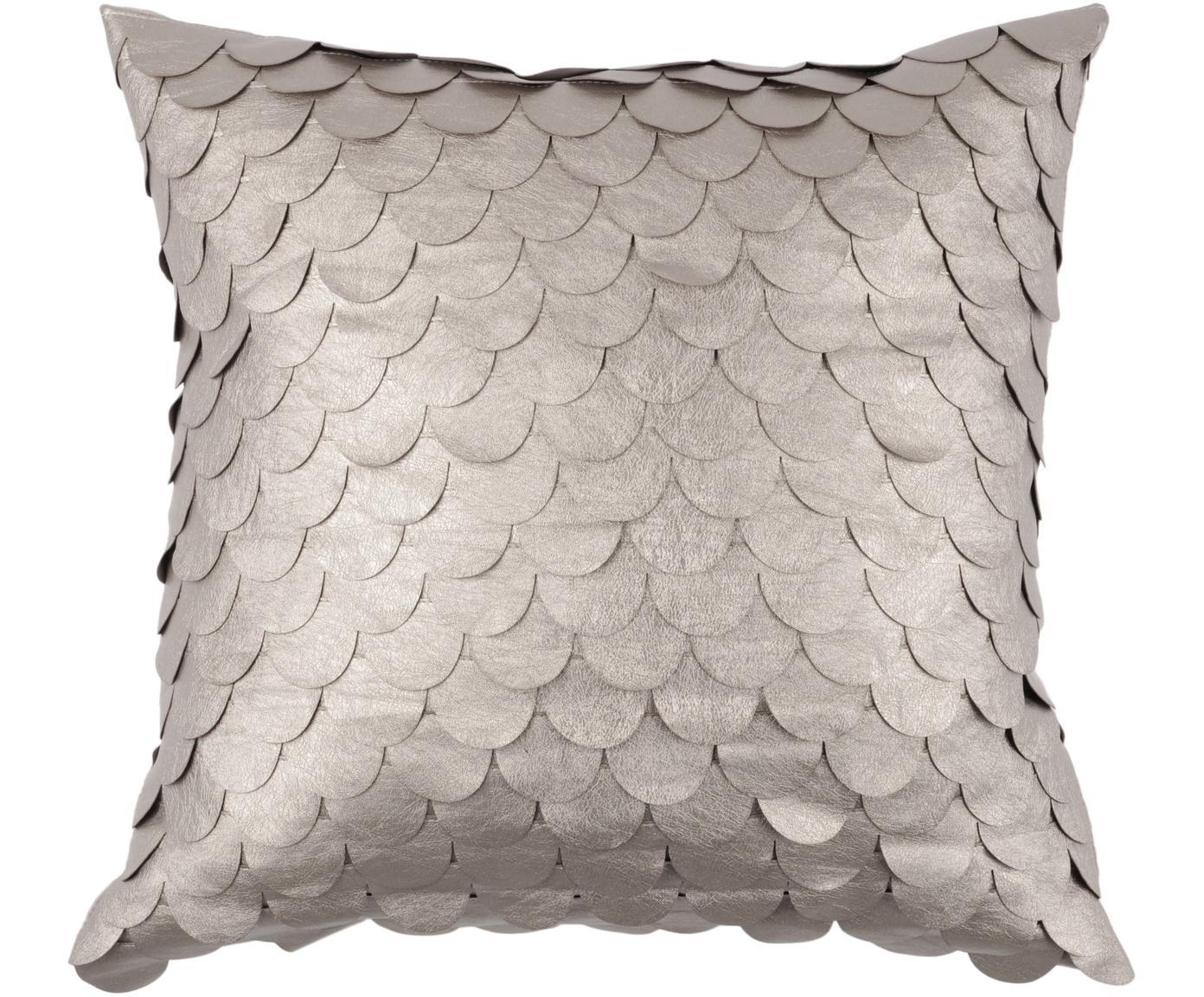 Błyszcząca poduszka z wypełnieniem Gasby Chic, Tapicerka: 50% poliester, 50% poliur, Odcienie szampańskiego, S 40 x D 40 cm
