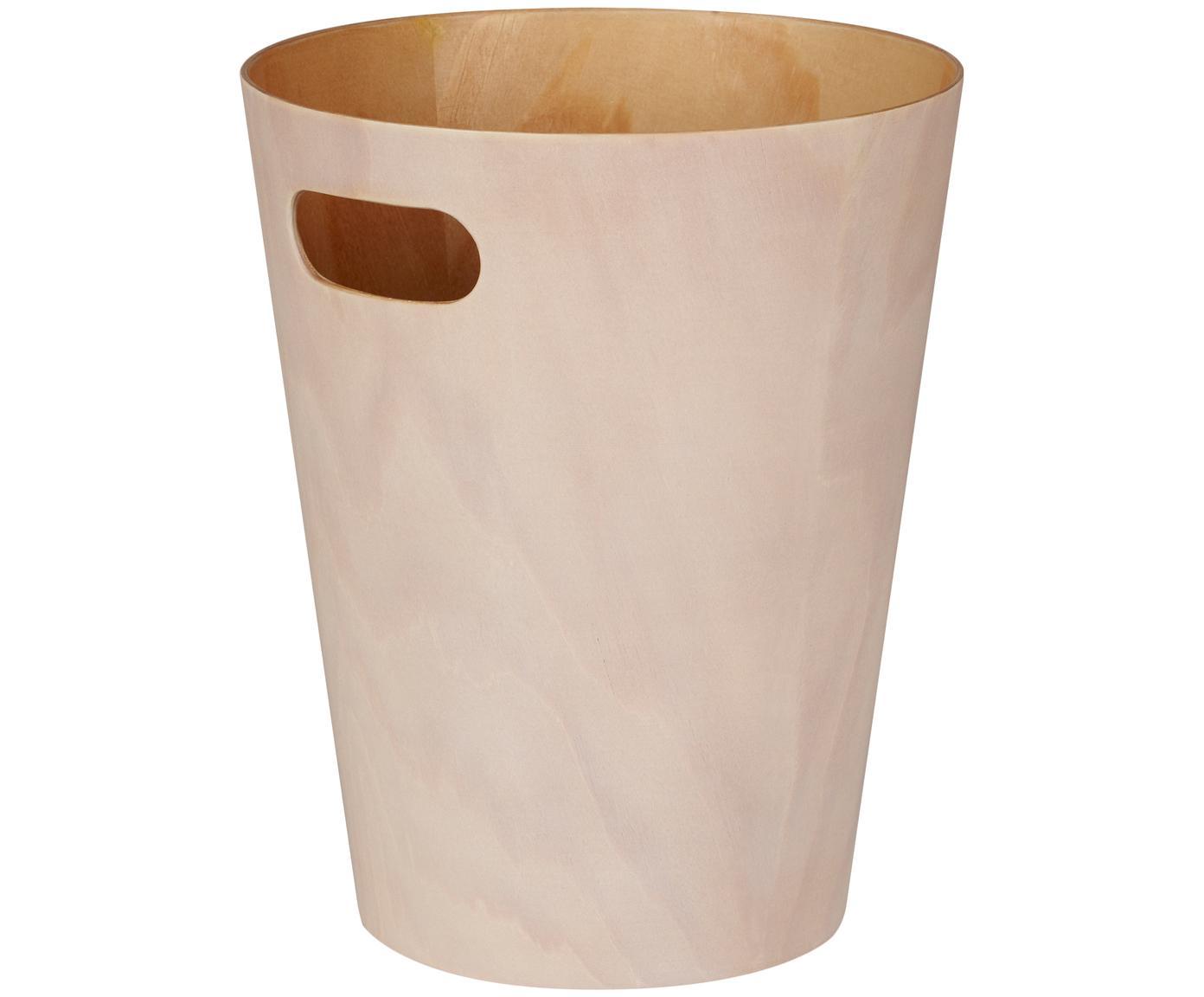 PapeleraWoodrow Can, Madera pintada, Crema, Ø 23 x Al 28 cm