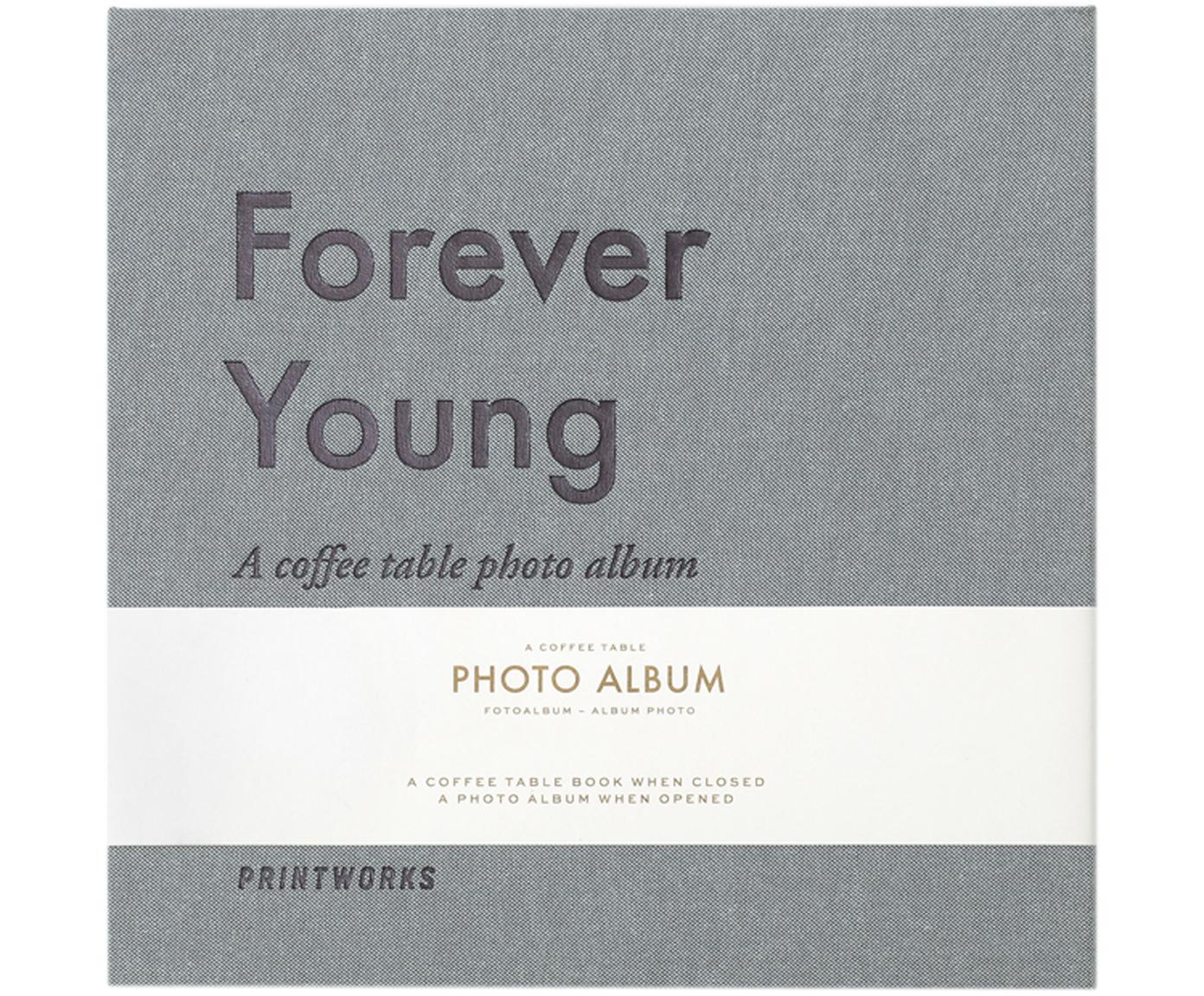 Fotoalbum Forever Young, Grijs, blauw, wit, zwart, 25 x 25 cm