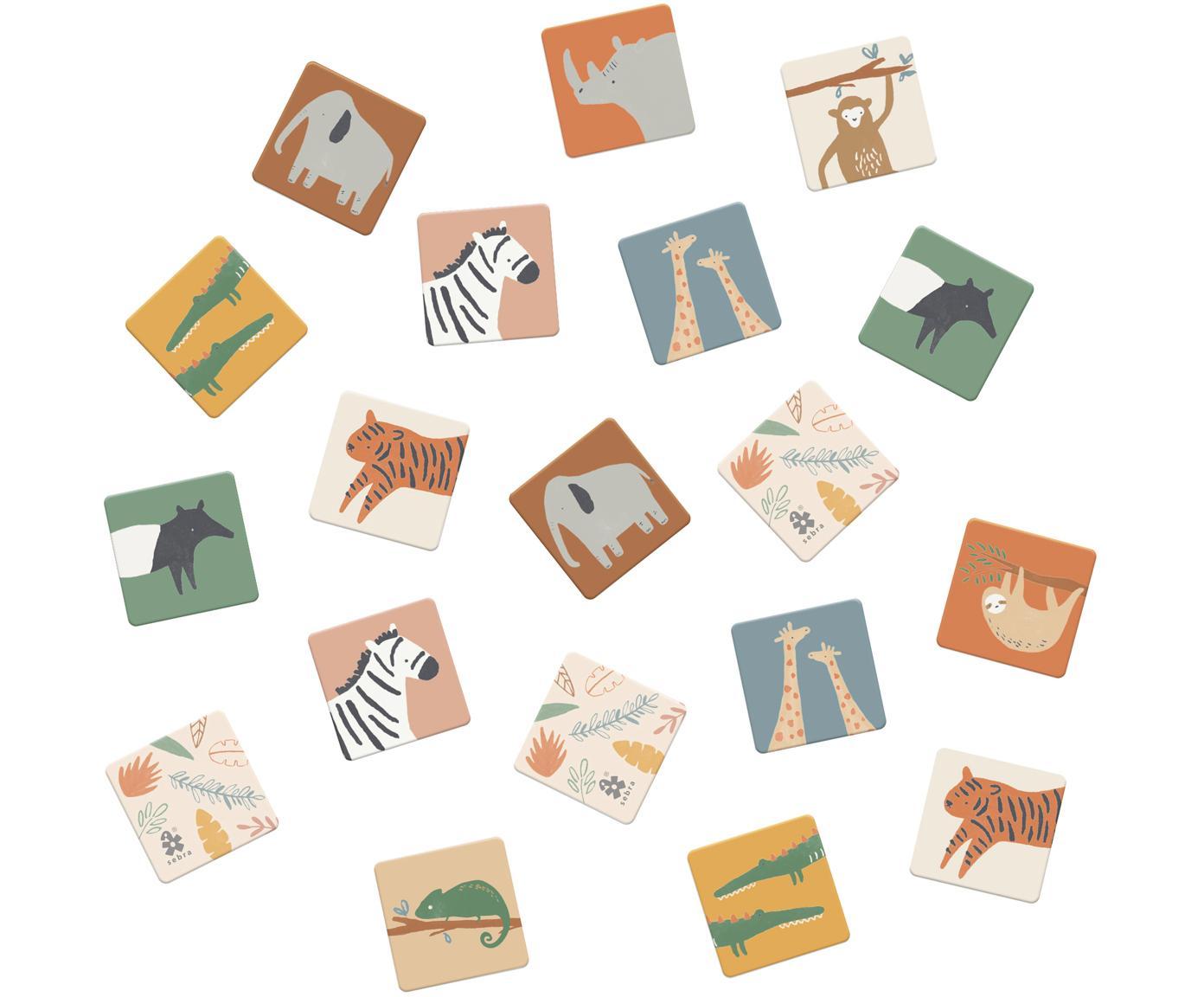 Juego memory Wildlife, 30pzas., Cartón resistente, Multicolor, An 6 x L 6 cm