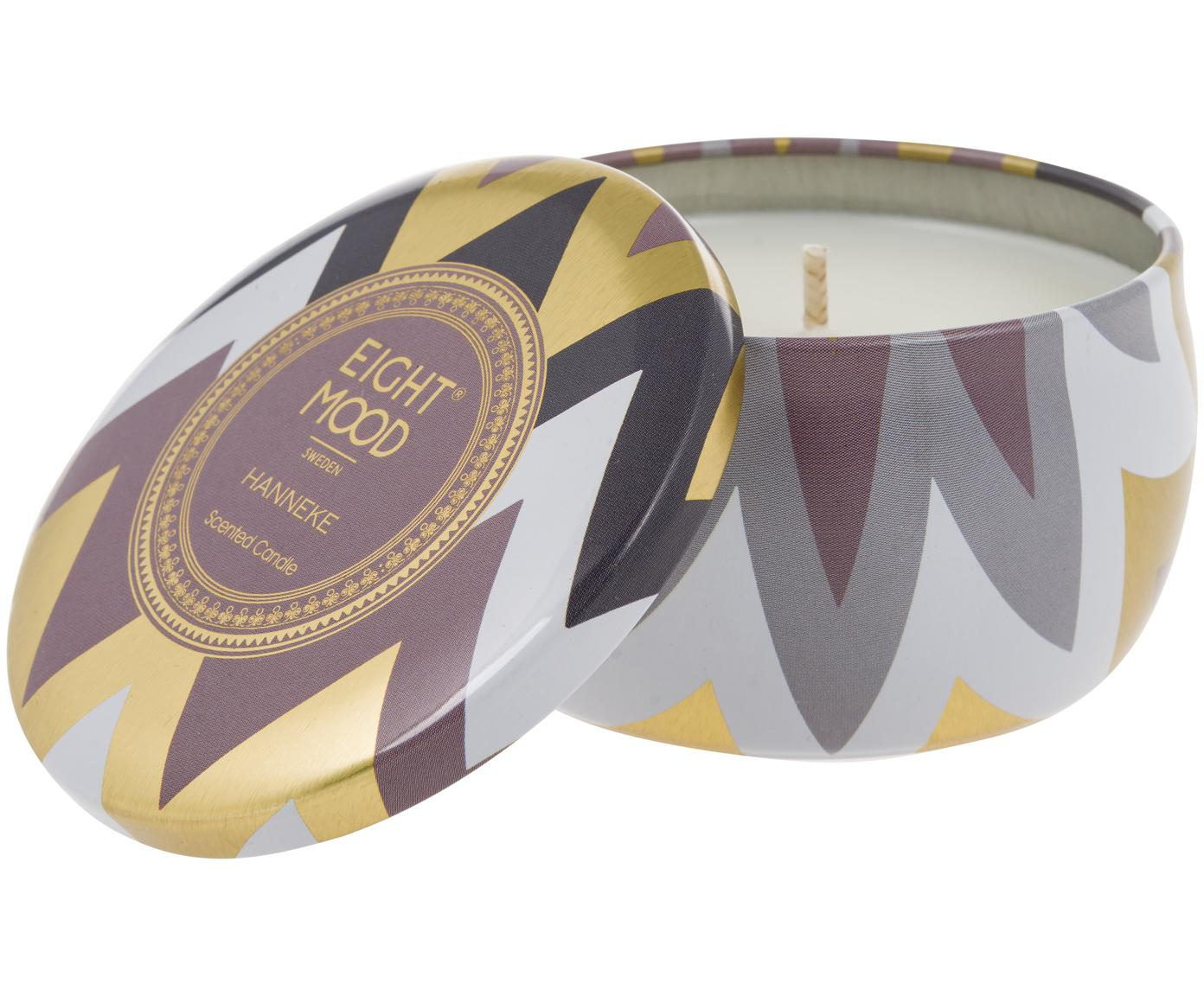 Candela profumata Hanneke (mandarino, fico), Contenitore: metallo, Contenitore: multicolore Cera: bianco, Ø 8 x Alt. 5 cm