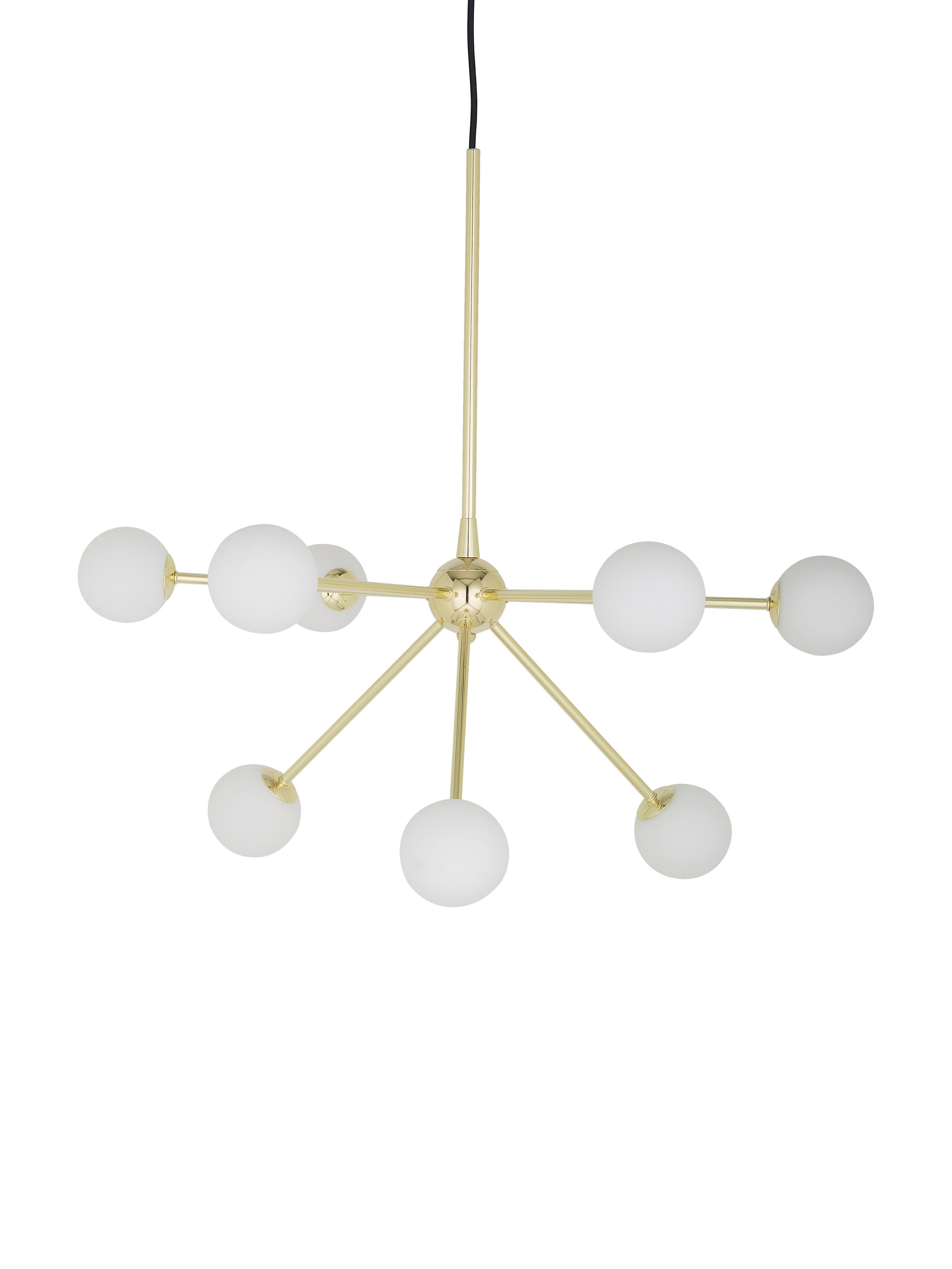 Lámpara de techo Space, Cable: cubierto en tela, Dorado, An 81 x F 71