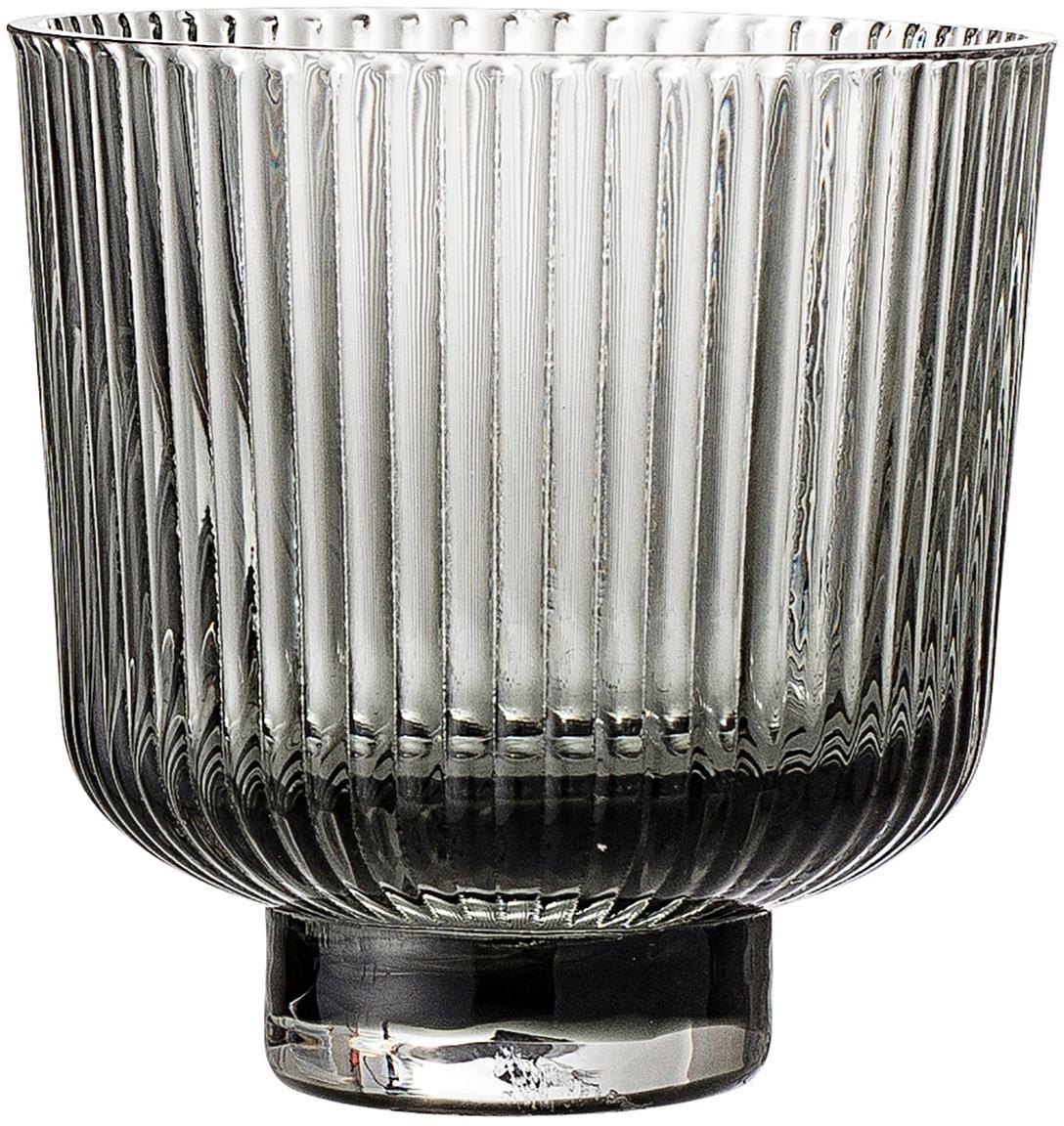 Waxinelichthouders Vaclav, 2 stuks, Glas, Grijs, Ø 9 x H 9 cm