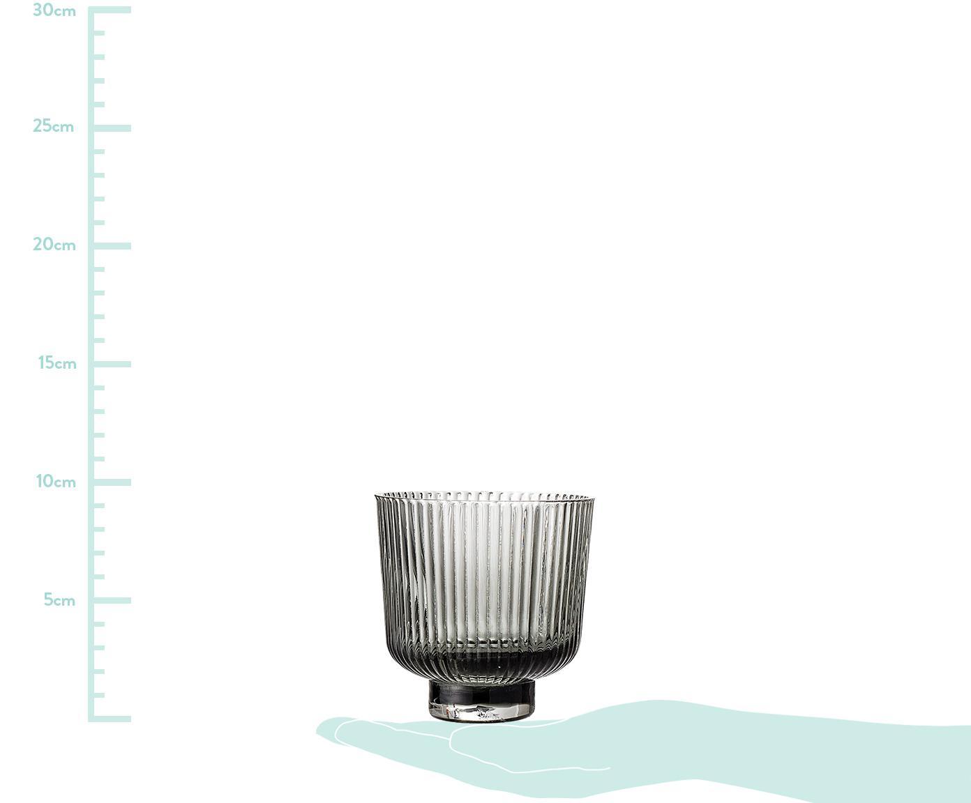 Świecznik na podgrzewacze Vaclav, 2 szt., Szkło, Szary, Ø 9 x W 9 cm