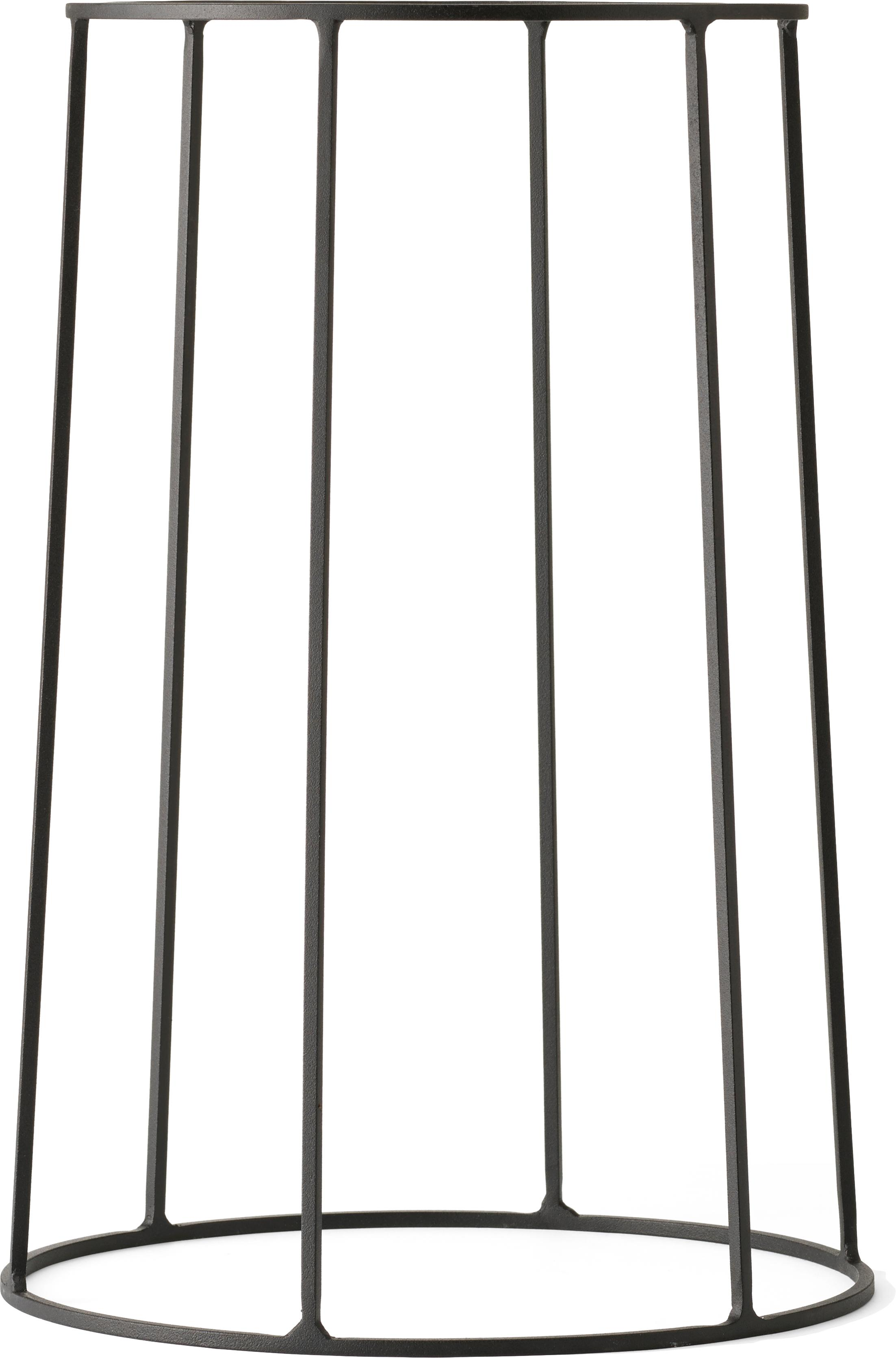 Stand per portavaso Wire Base, Acciaio verniciato a polvere, Nero, Ø 23 x Alt. 60 cm