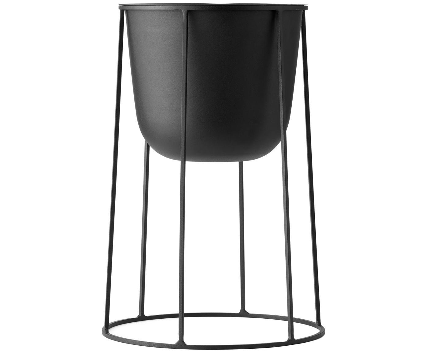 Stojak na doniczkę Wire Base, Stal malowana proszkowo, Czarny, Ø 23 x W 60 cm