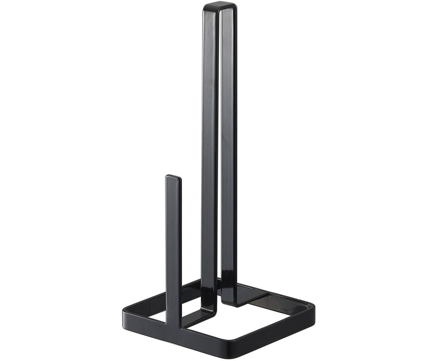 Portarrollos Tower, Acero, recubierto, Negro, An 11 x Al 27 cm