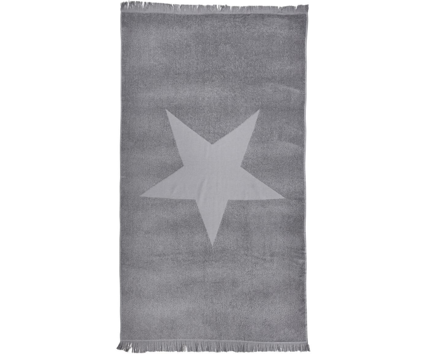 Ręcznik plażowy Capri, Srebrnoszary, S 90 x D 160 cm