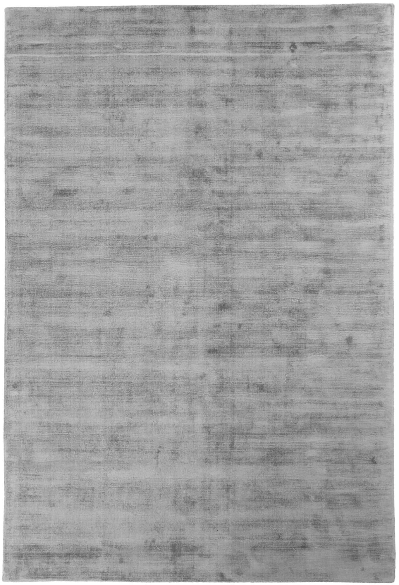 Alfombra artesanal de viscosa Jane, Parte superior: 100%viscosa, Reverso: 100%algodón, Gris, An 200 x L 300 cm (Tamaño L)