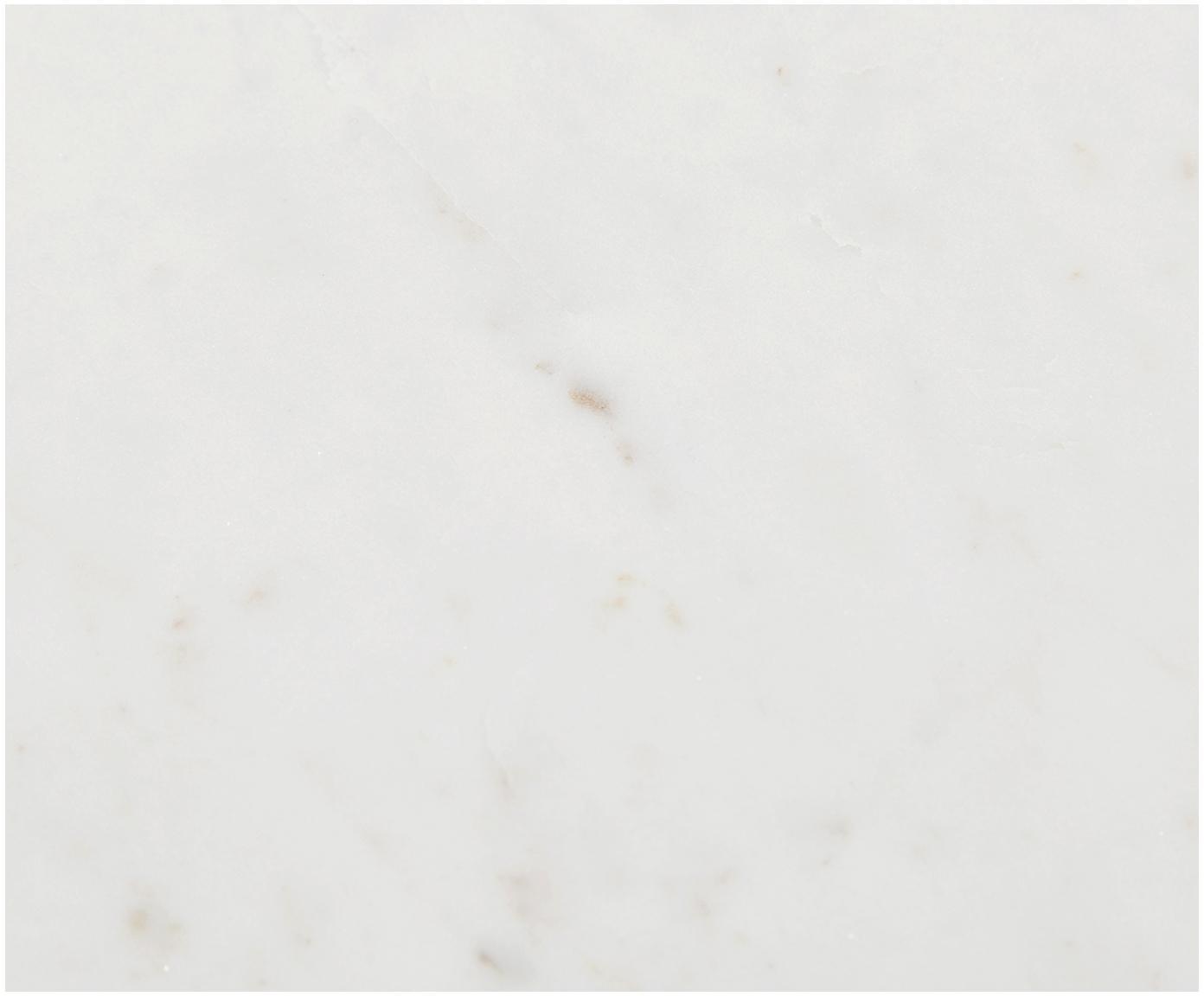 Komplet stolików pomocniczych z marmuru Ella, Stelaż: marmur naturalny, Stelaż: metal malowany proszkowo, Blaty: jaśniejszy marmur Regał: odcienie złotego, matowy, Różne rozmiary