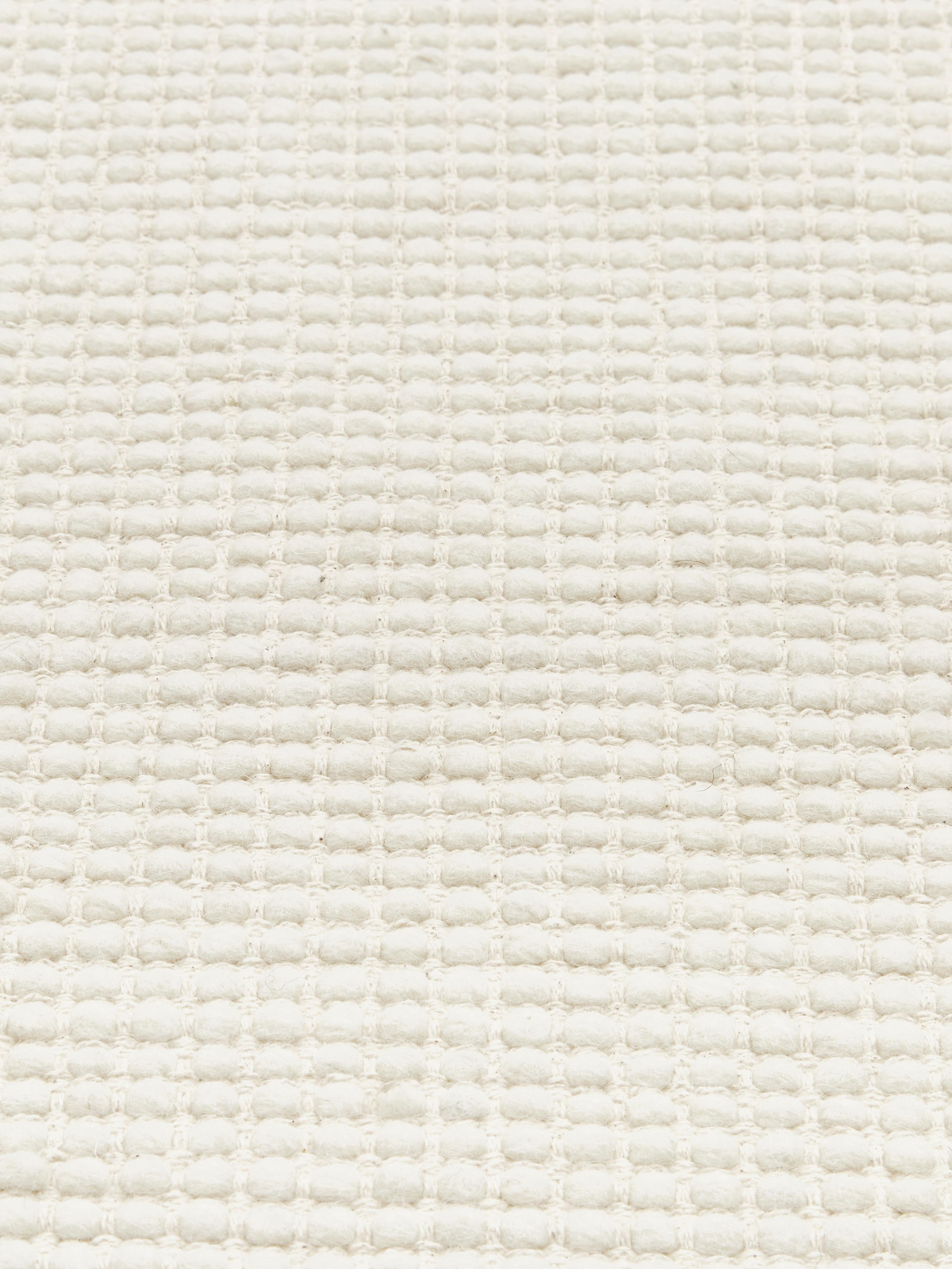 Tappeto in lana tessuto a mano color crema Amaro, 38% lana, 22% poliestere, 20% cotone, 20% poliammide, Bianco crema, Larg. 200 x Lung. 300 cm (taglia L)
