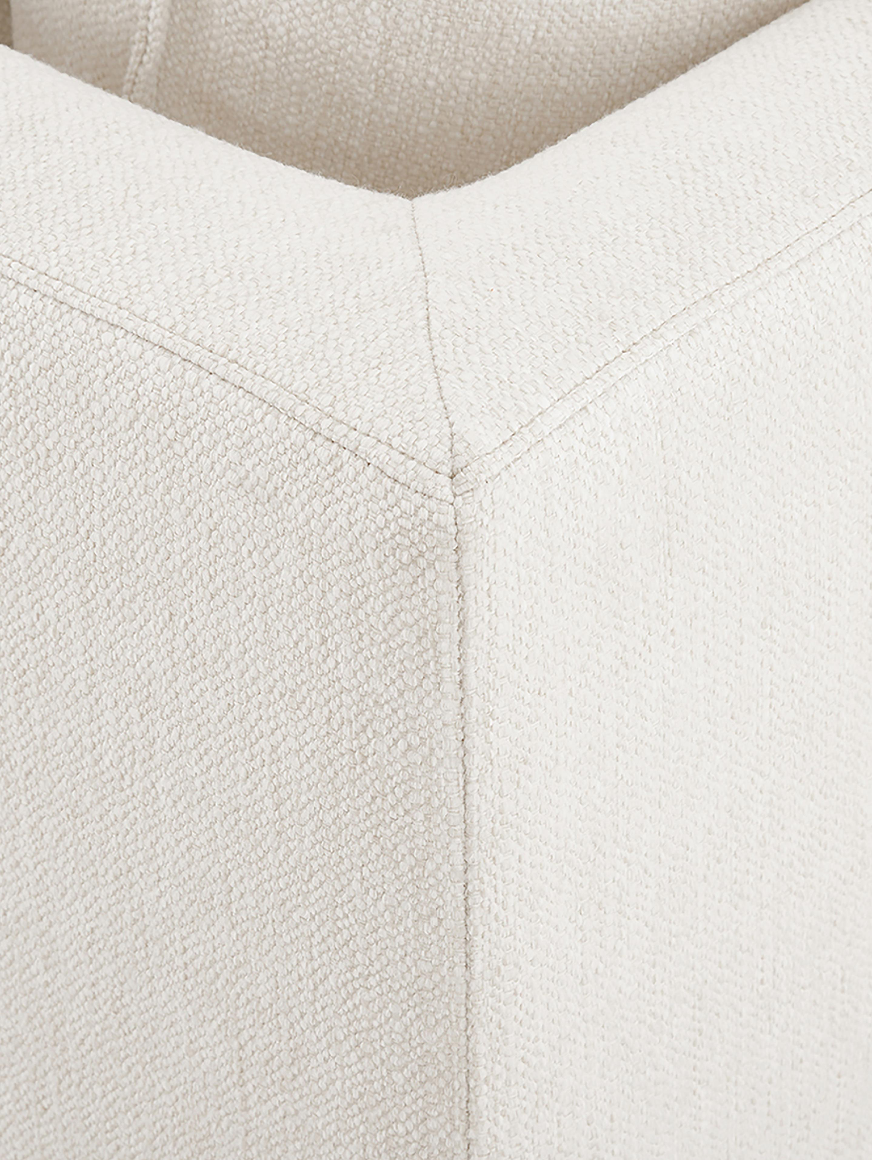 Grote hoekbank Tribeca, Bekleding: polyester, Zitvlak: schuimstof, vezelmateriaa, Frame: massief grenenhout, Poten: gelakt massief grenenhout, Geweven stof beige, B 315 x D 228 cm