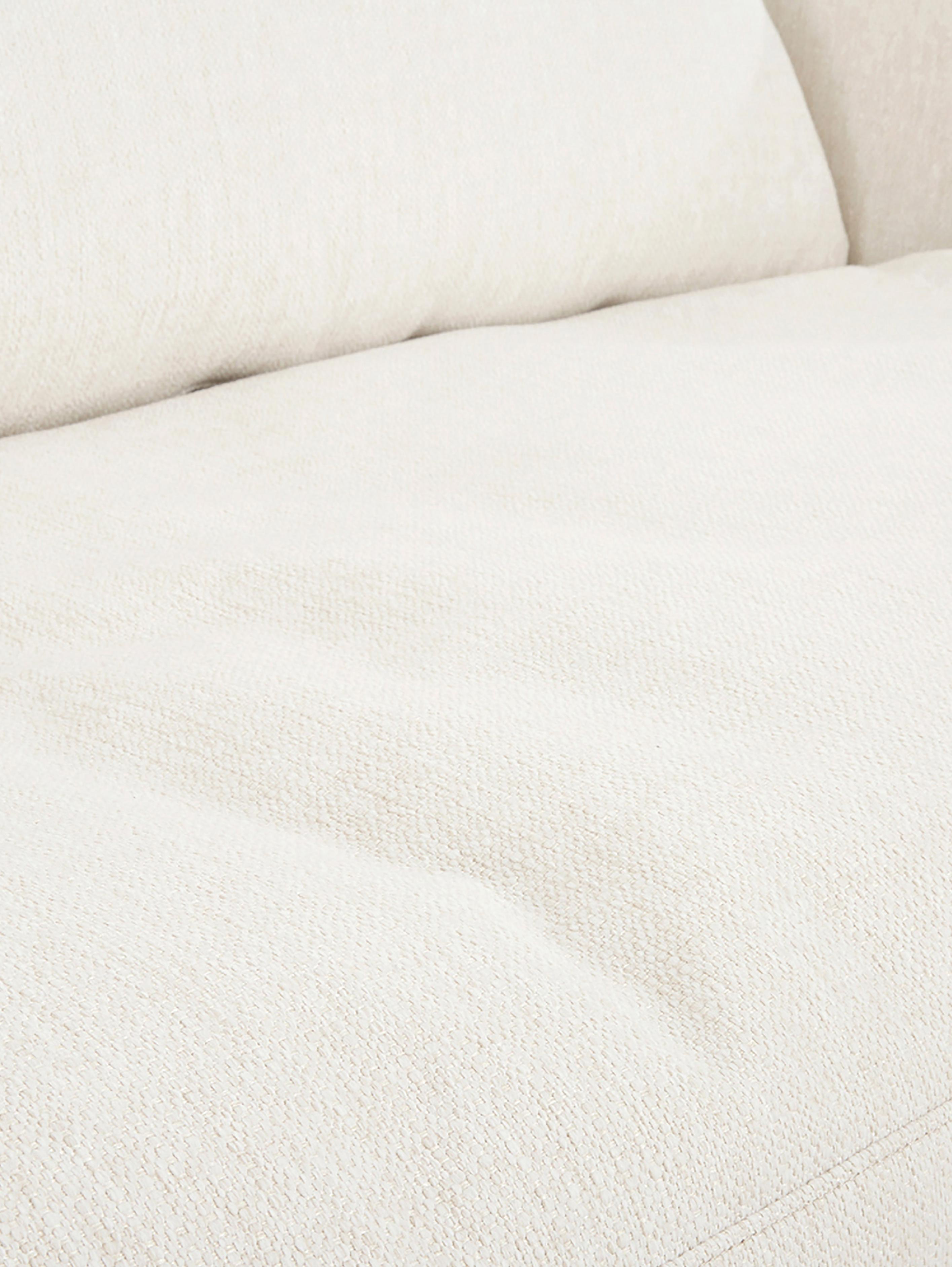 Divano angolare in tessuto beige Tribeca, Rivestimento: poliestere 26.000 cicli d, Rivestimento: cuscino in schiuma con mo, Seduta: imbottitura in schiuma, f, Struttura: legno di pino massiccio, Tessuto beige, Larg. 315 x Prof. 228 cm
