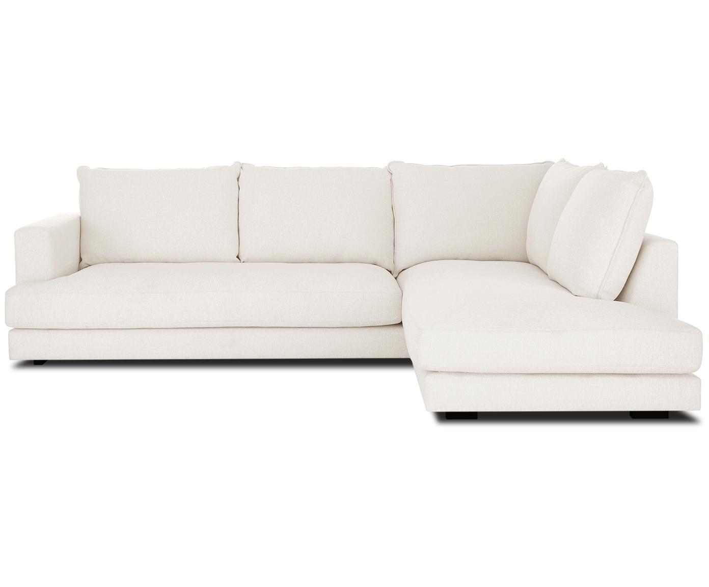 Duża sofa narożna Tribeca, Tapicerka: poliester 25000 cykli w , Stelaż: lite drewno sosnowe, Nogi: lite drewno sosnowe, laki, Beżowy, S 274 x G 192 cm
