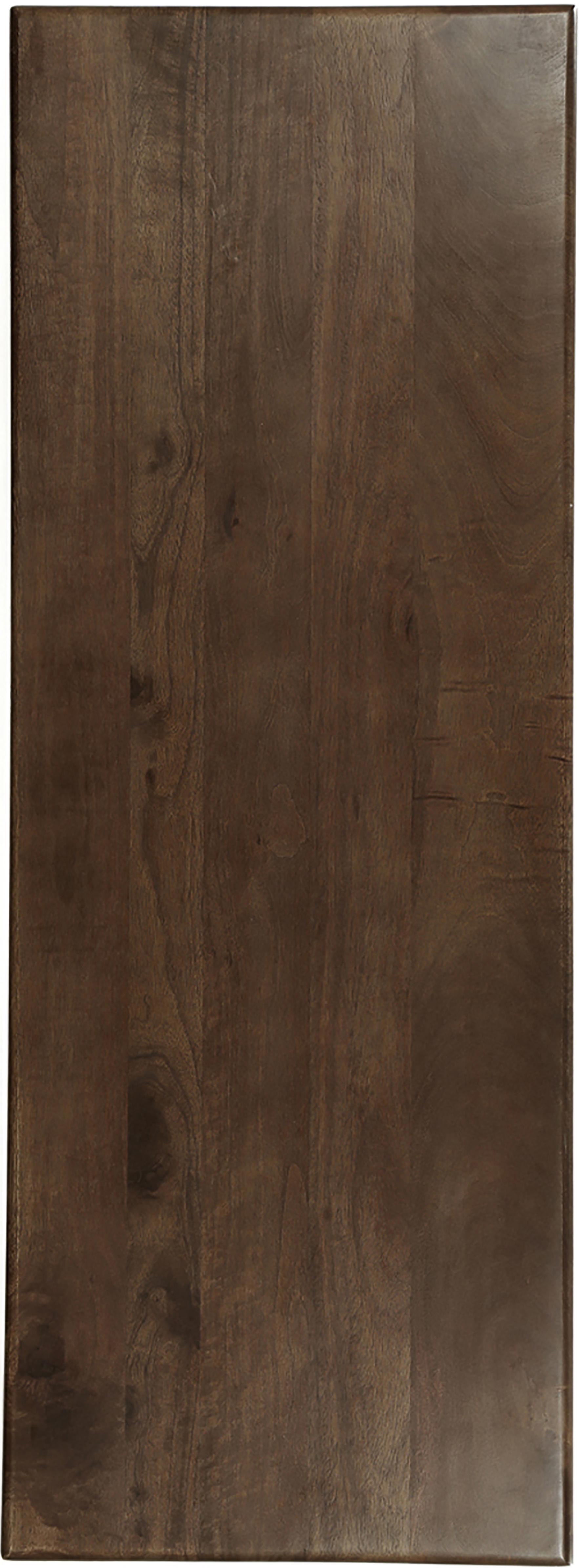 Konsole Oscar aus massivem Mangoholz, Mangoholz massiv, lackiert, Dunkelbraun, B 110 x T 40 cm