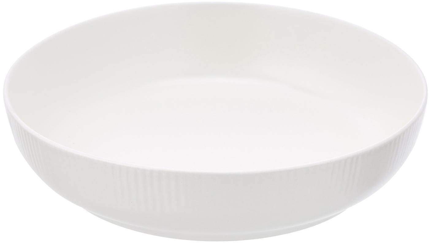Boles artesanales Sandvig, 4uds., Porcelana, coloreada, Blanco crudo, Ø 19 x Al 4 cm