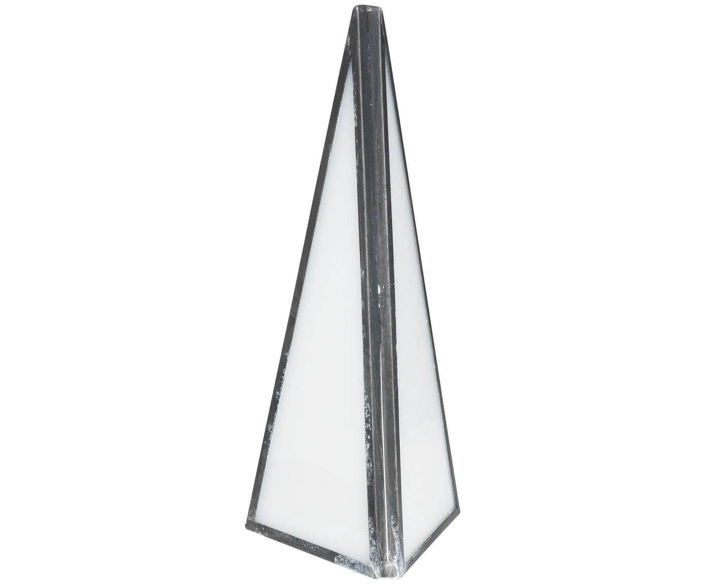 Deko-Objekt Mosaic, Rahmen: Metall, Metall, Opalweiß, 6 x 15 cm