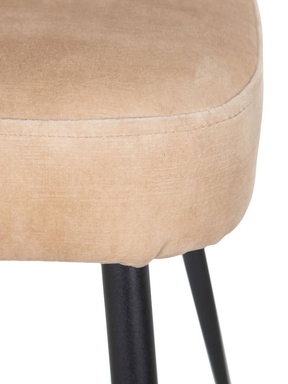 Silla de terciopelo Shelly, Tapizado: 100%poliéster, Estructura: madera contrachapada, Patas: hierro, Melocotón, An 51 x Al 88 cm
