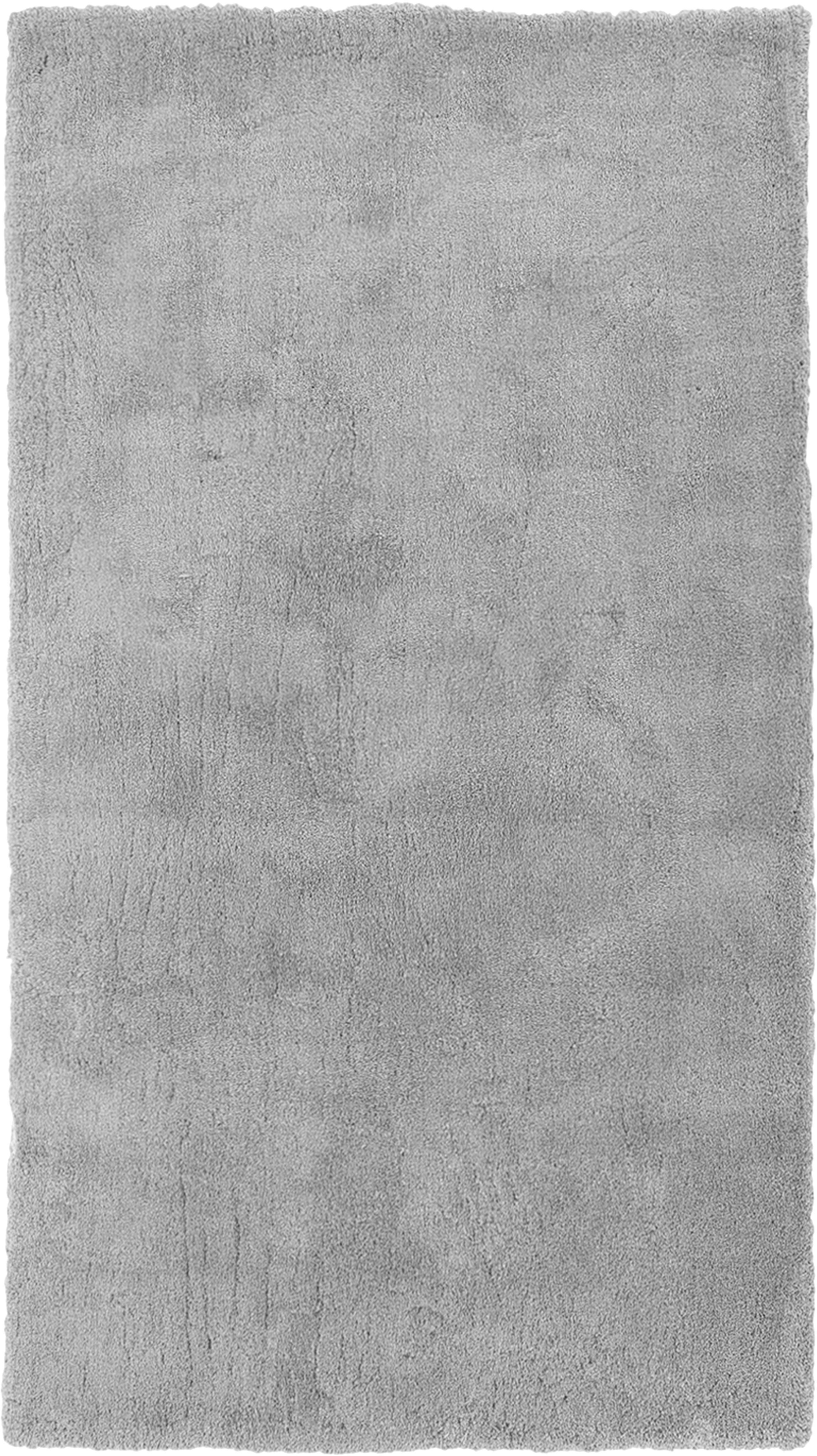 Tappeto peloso morbido grigio scuro Leighton, Retro: 70% poliestere, 30% coton, Grigio, Larg. 80 x Lung. 150 cm (taglia XS)