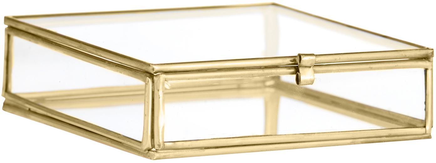 Aufbewahrungsbox Ivey, Rahmen: Metall, beschichtet, Messingfarben, 10 x 3 cm