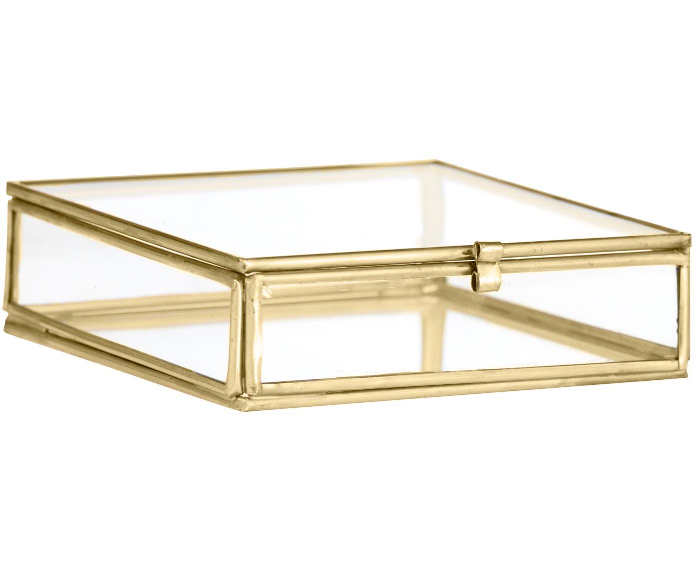 Pudełko do przechowywania Ivey, Odcienie mosiądzu, S 11 x W 4 cm